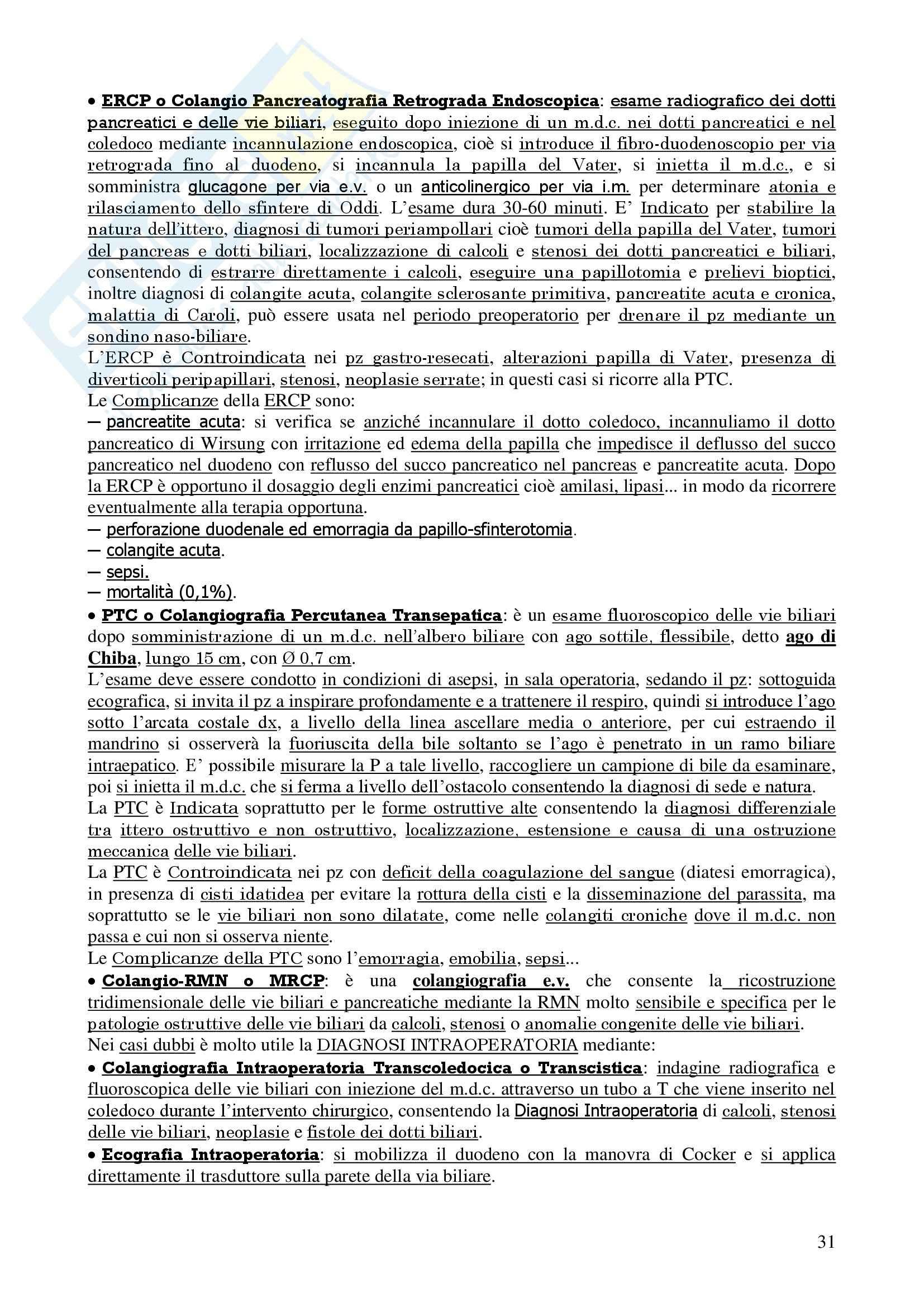 Chirurgia - chirurgia generale - Appunti Pag. 31