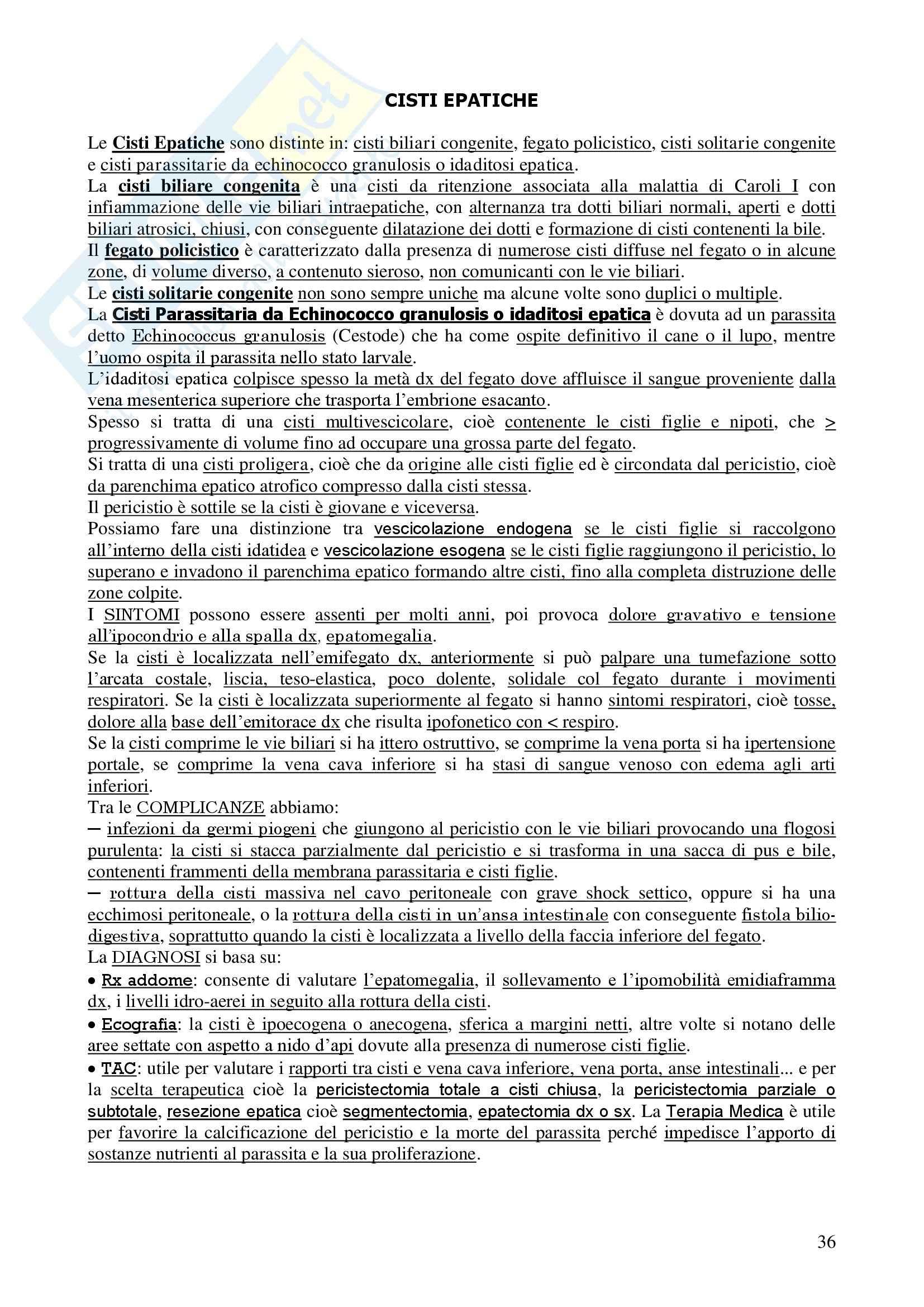 Chirurgia - chirurgia generale - Appunti Pag. 36