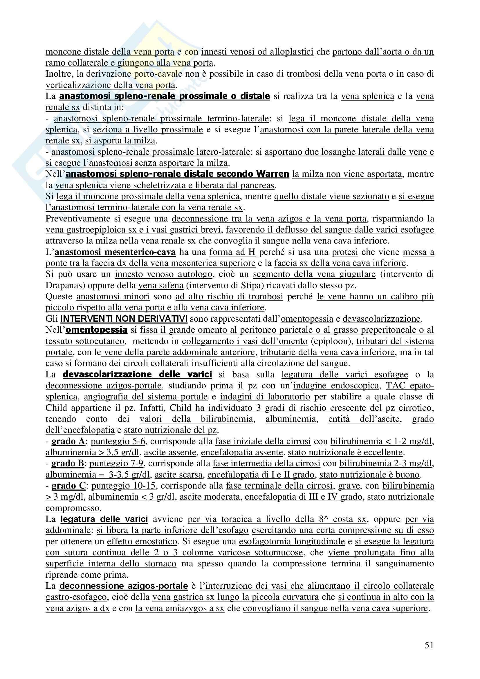 Chirurgia - chirurgia generale - Appunti Pag. 51