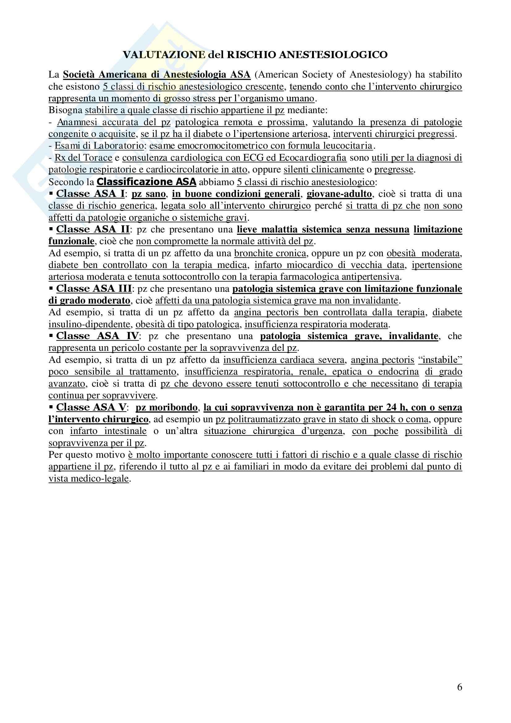 Chirurgia - chirurgia generale - Appunti Pag. 6