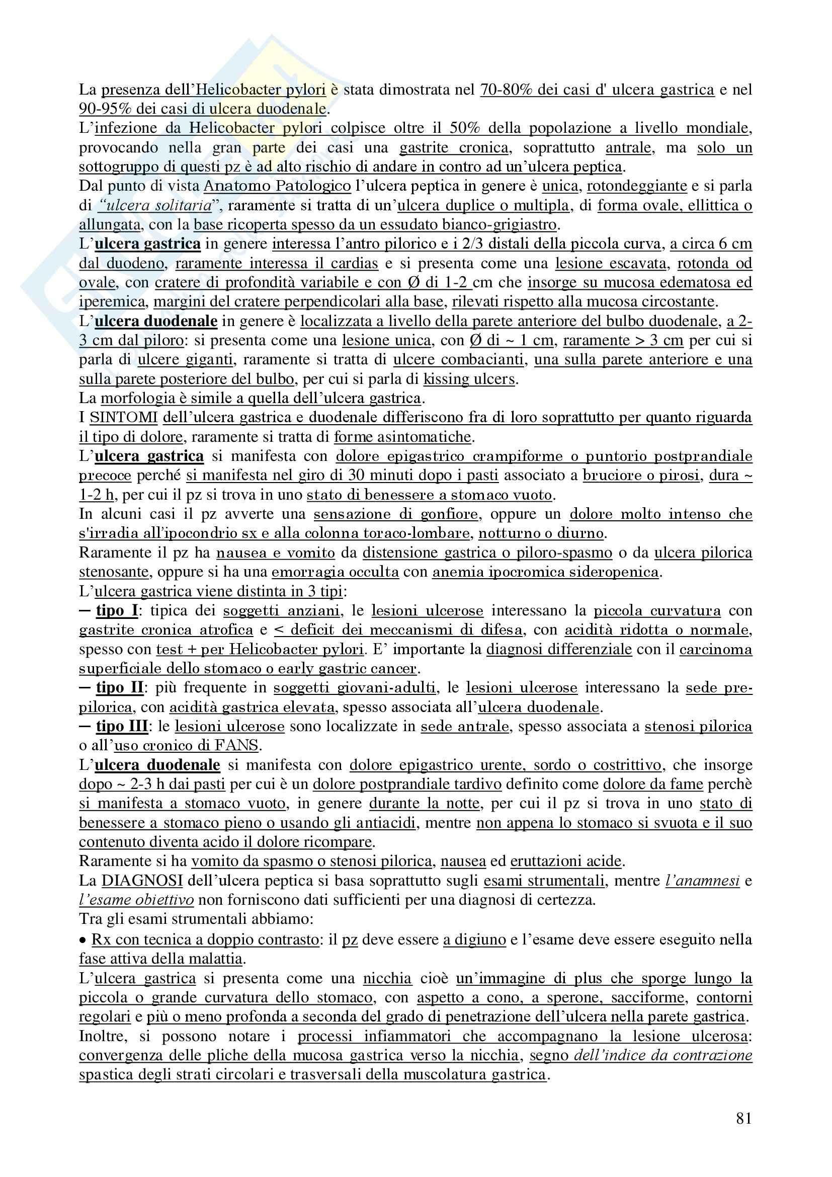 Chirurgia - chirurgia generale - Appunti Pag. 81