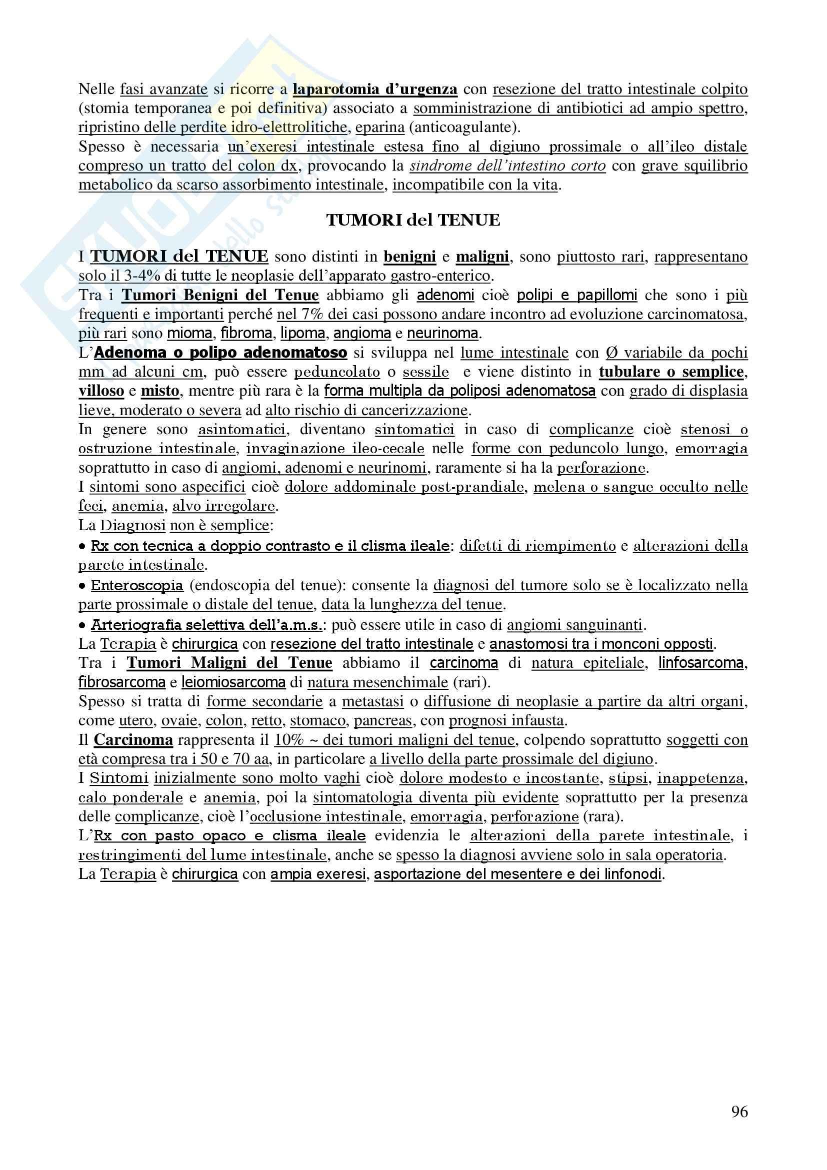 Chirurgia - chirurgia generale - Appunti Pag. 96