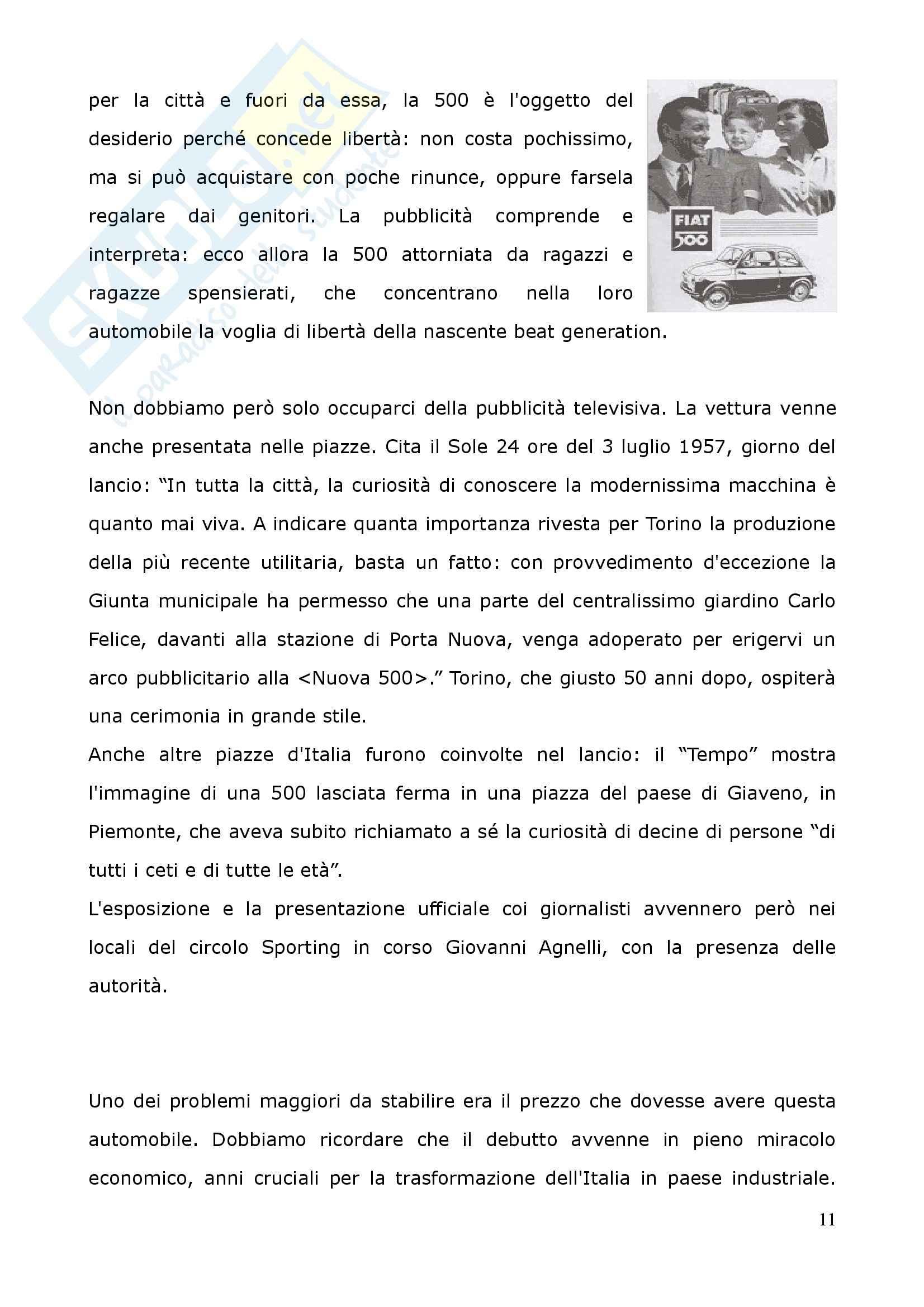 Tesi - La piccola grande vettura: 500 Fiat Pag. 11