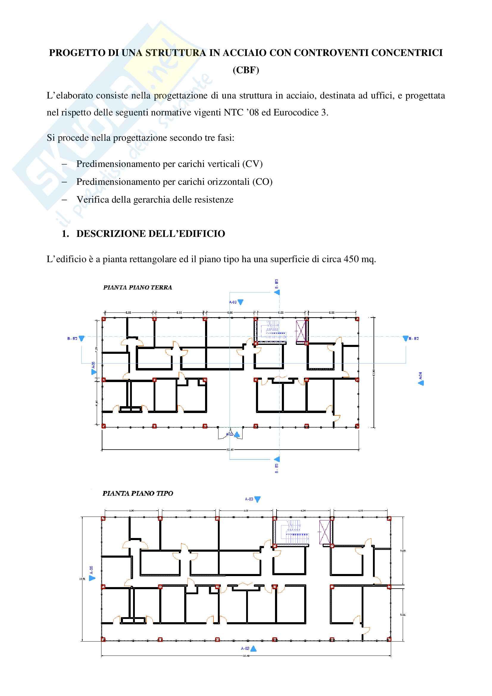 Progetto di una struttura in acciaio con controventi concentrici (CBF)