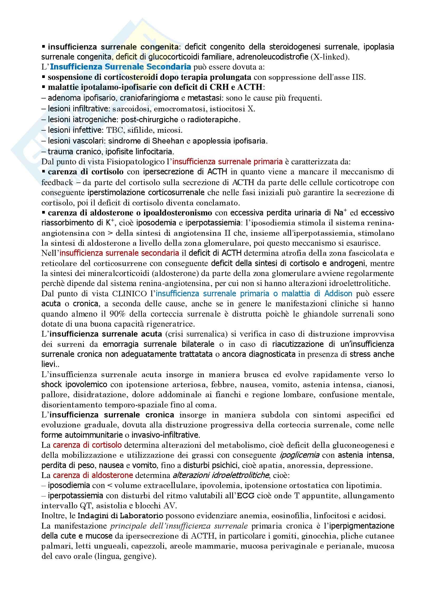 Endocrinologia - l'insufficienza corticosurrenalica Pag. 2