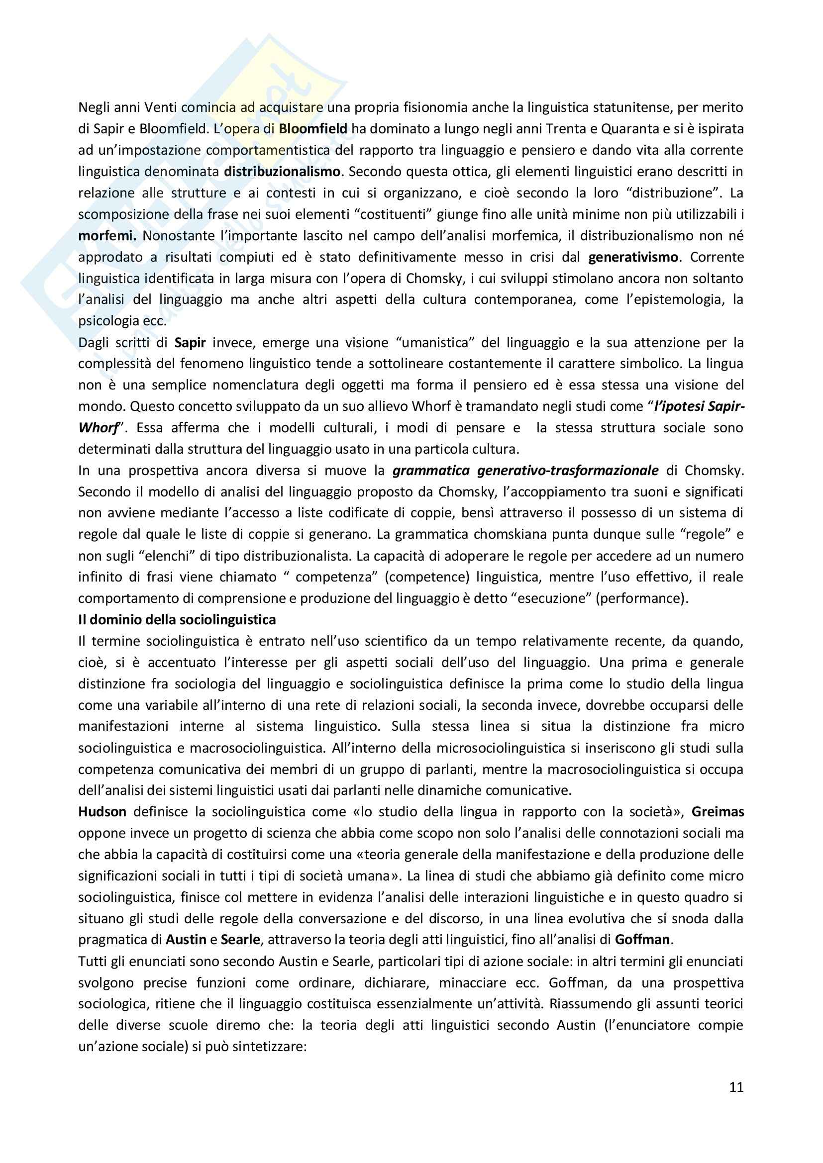 Lezioni, Scienze della comunicazione Pag. 11