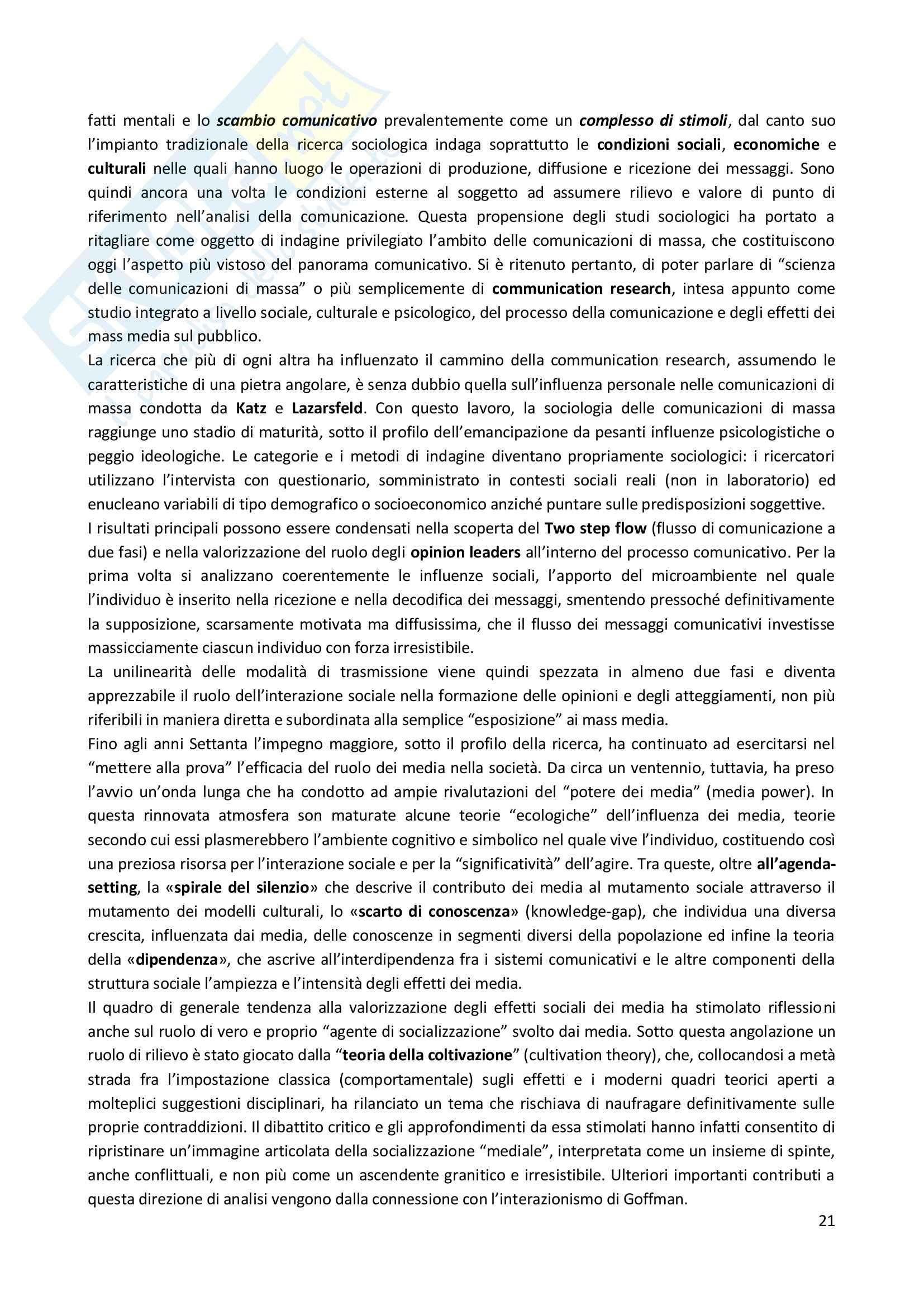 Lezioni, Scienze della comunicazione Pag. 21