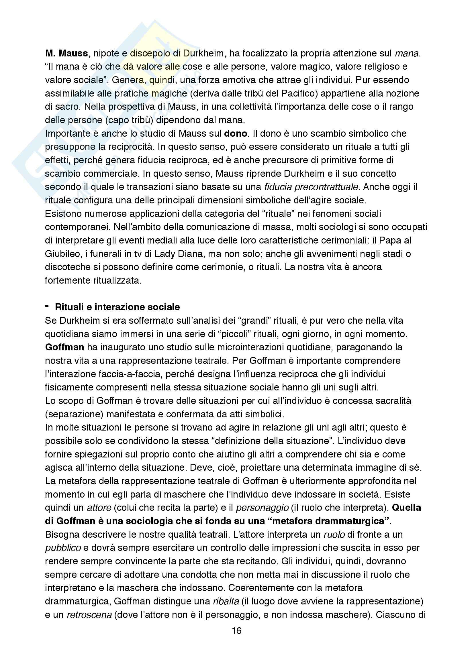 Riassunto esame Sociologia della cultura., prof. Biuso, libro consigliato Che cos'è la sociologia della Cultura, De Biasi Pag. 16