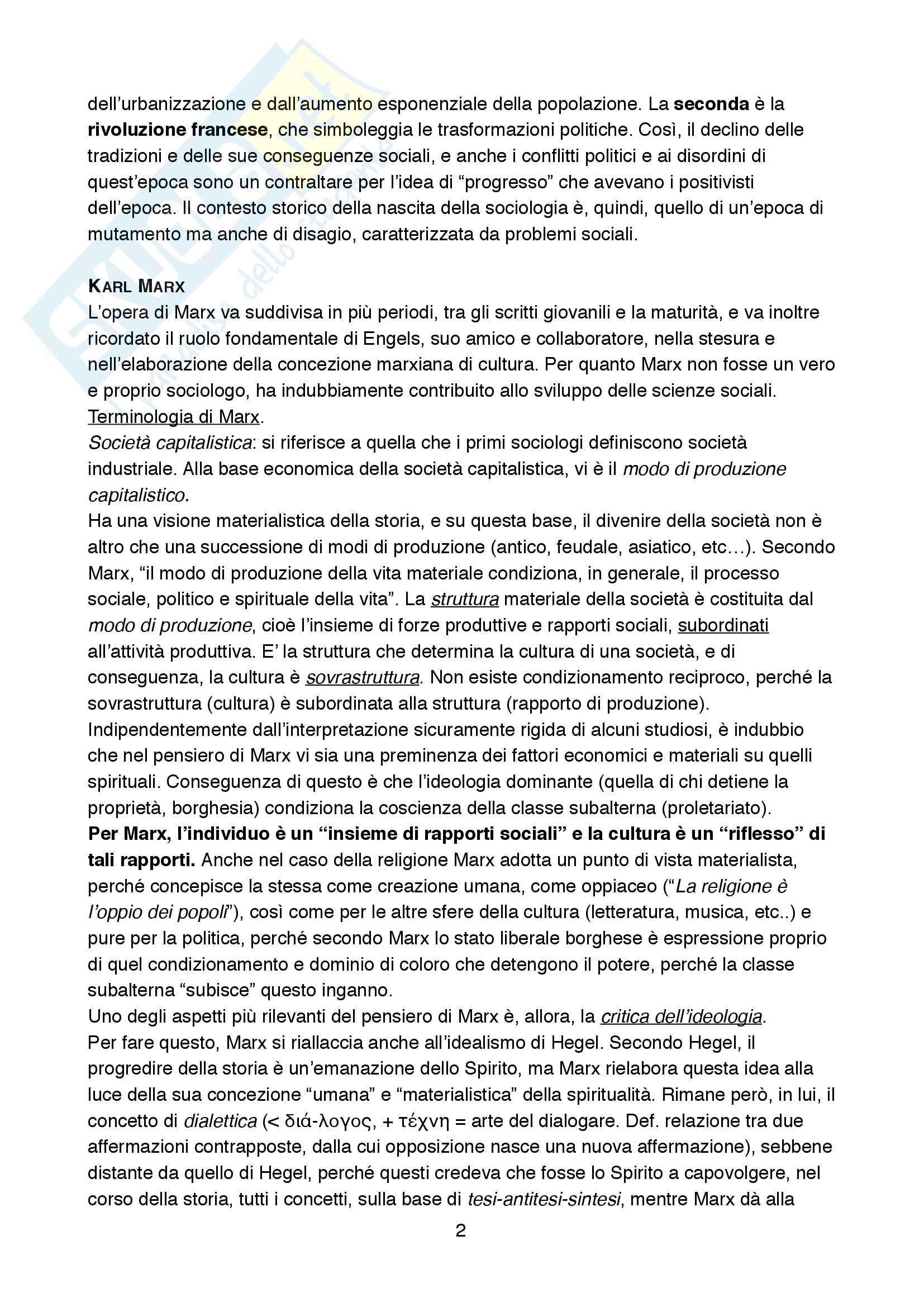 Riassunto esame Sociologia della cultura., prof. Biuso, libro consigliato Che cos'è la sociologia della Cultura, De Biasi Pag. 2