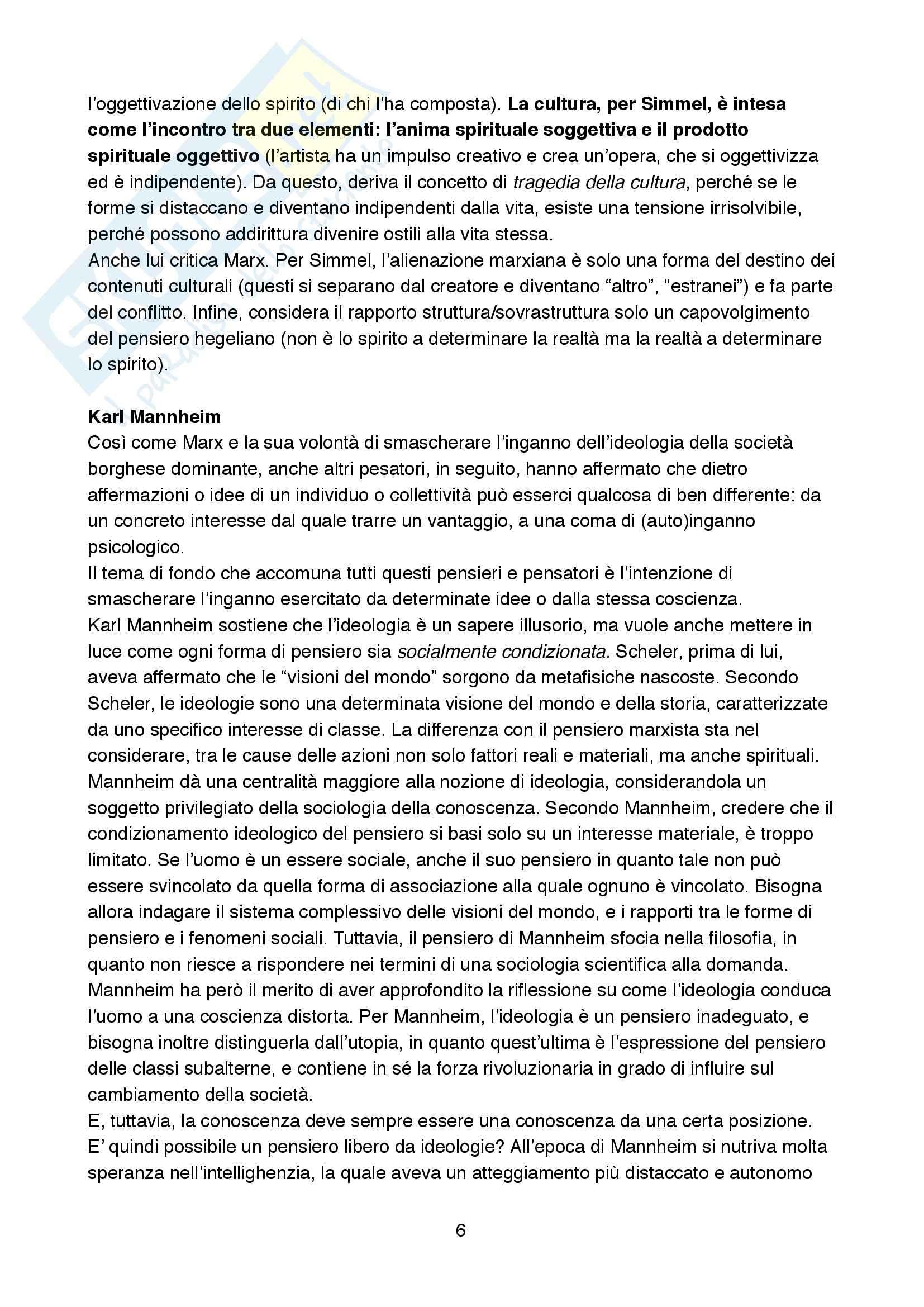 Riassunto esame Sociologia della cultura., prof. Biuso, libro consigliato Che cos'è la sociologia della Cultura, De Biasi Pag. 6