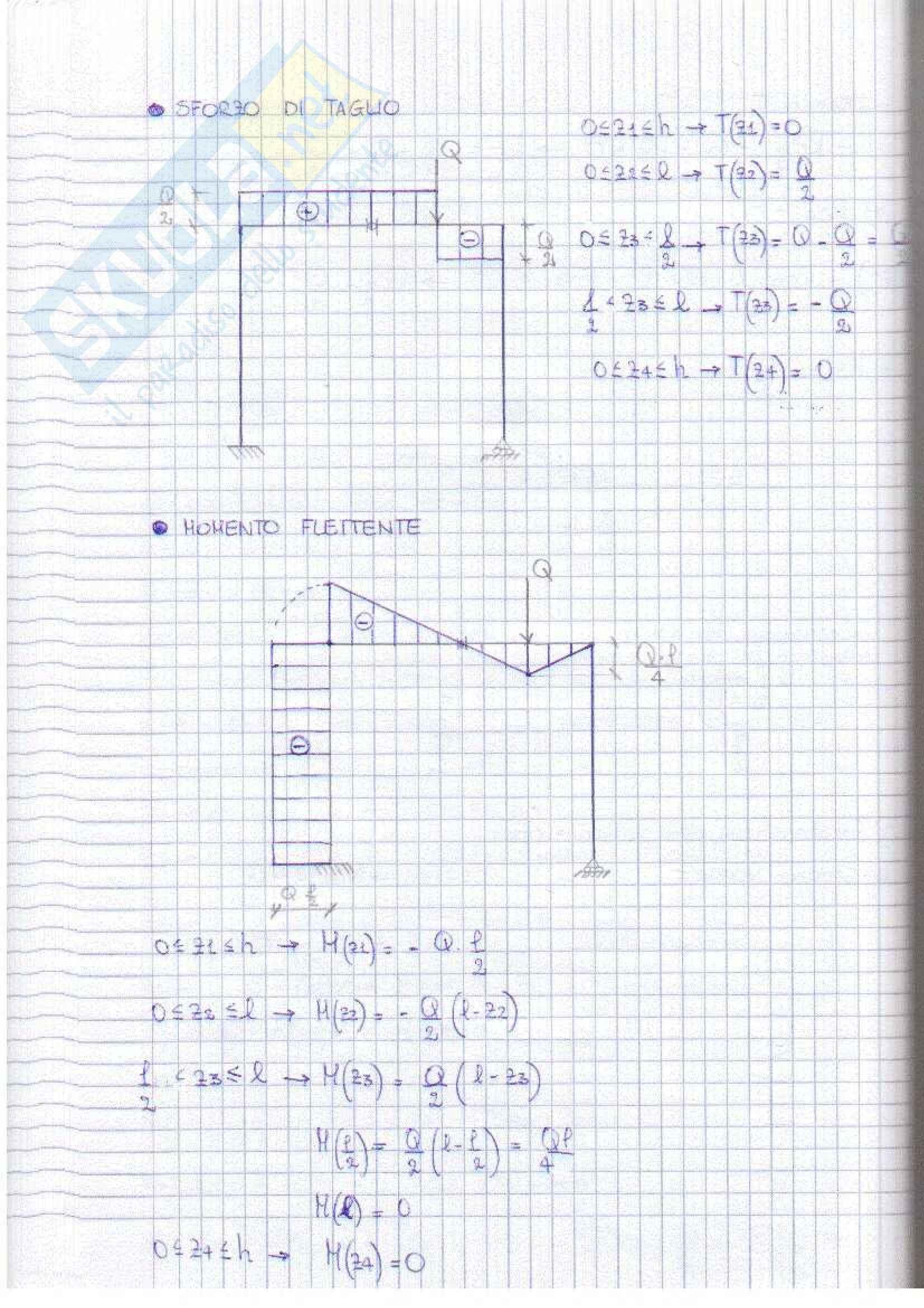 Scienza delle costruzioni - Esercizi Pag. 31