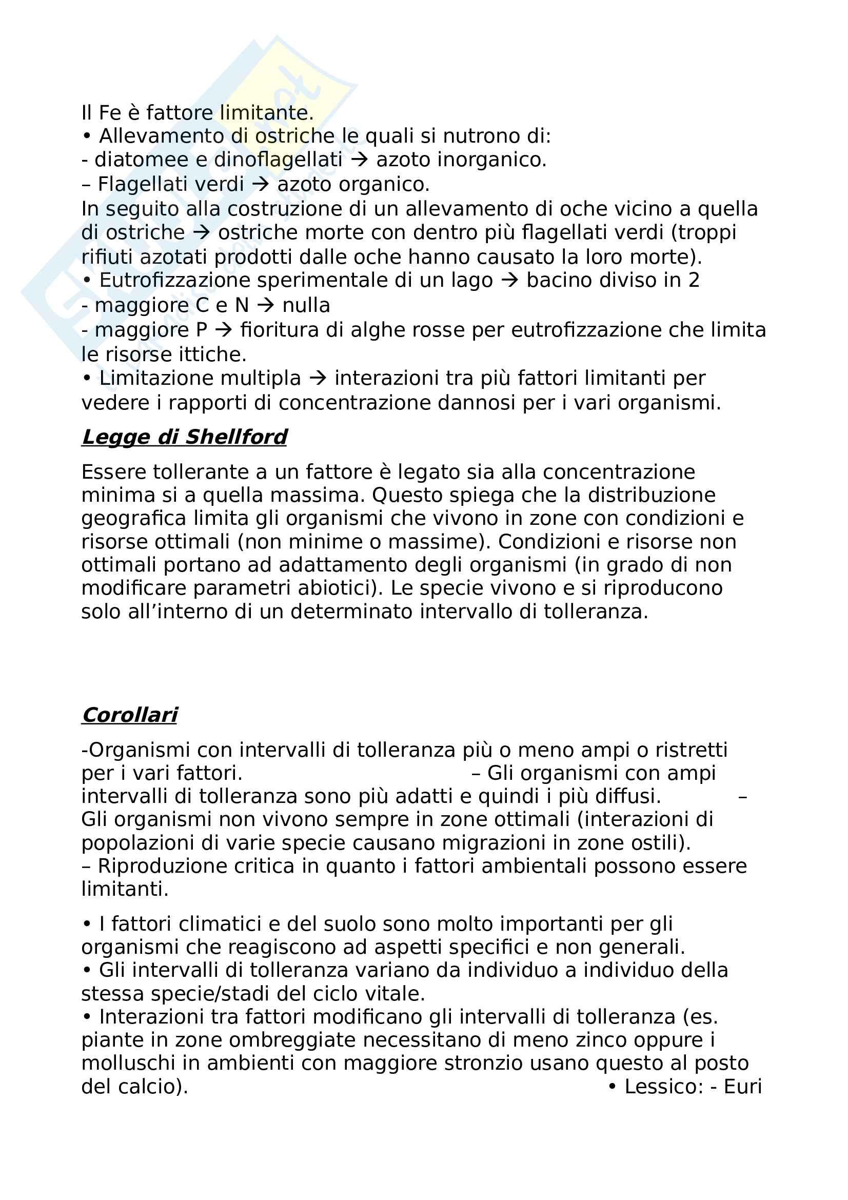 Appunti di Ecologia, Sandra Urbanelli Pag. 16