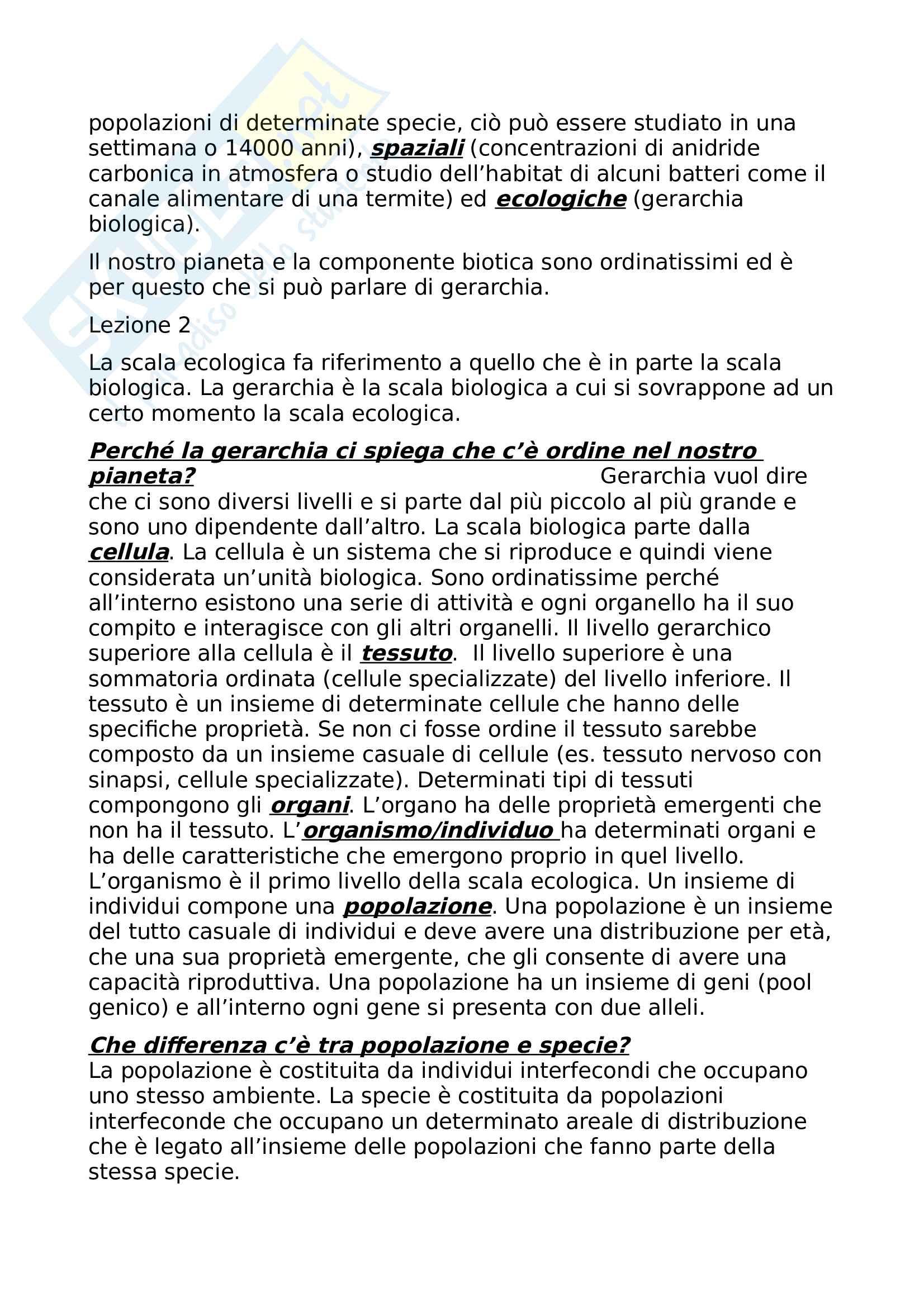 Appunti di Ecologia, Sandra Urbanelli Pag. 2