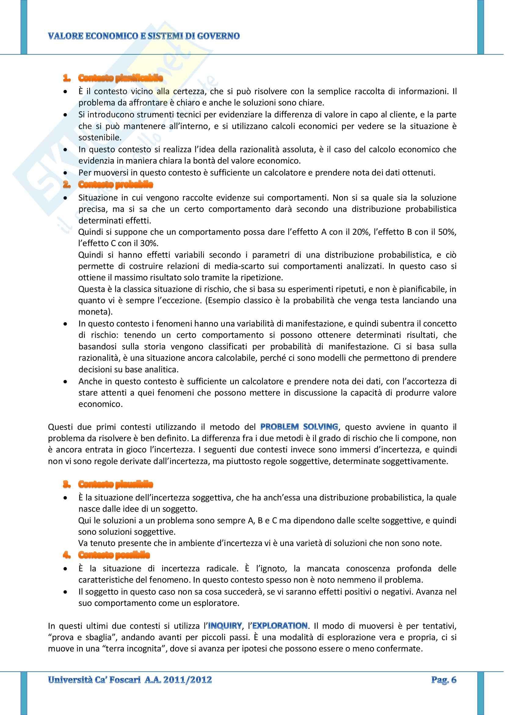 Valore Economico E Sistemi Di Governo - Appunti Pag. 6