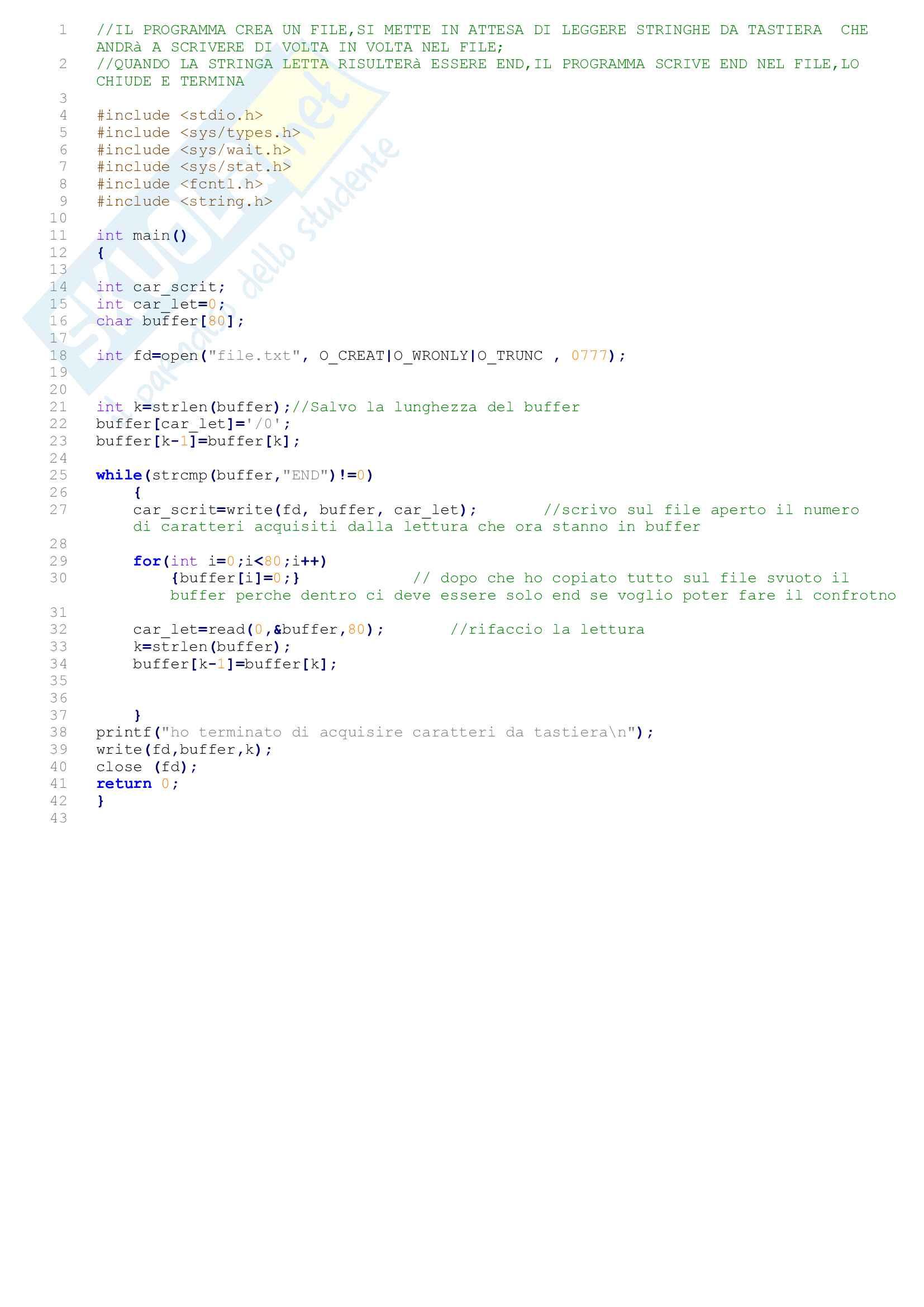 Sistemi operativi (programmazione system call e java multithread)