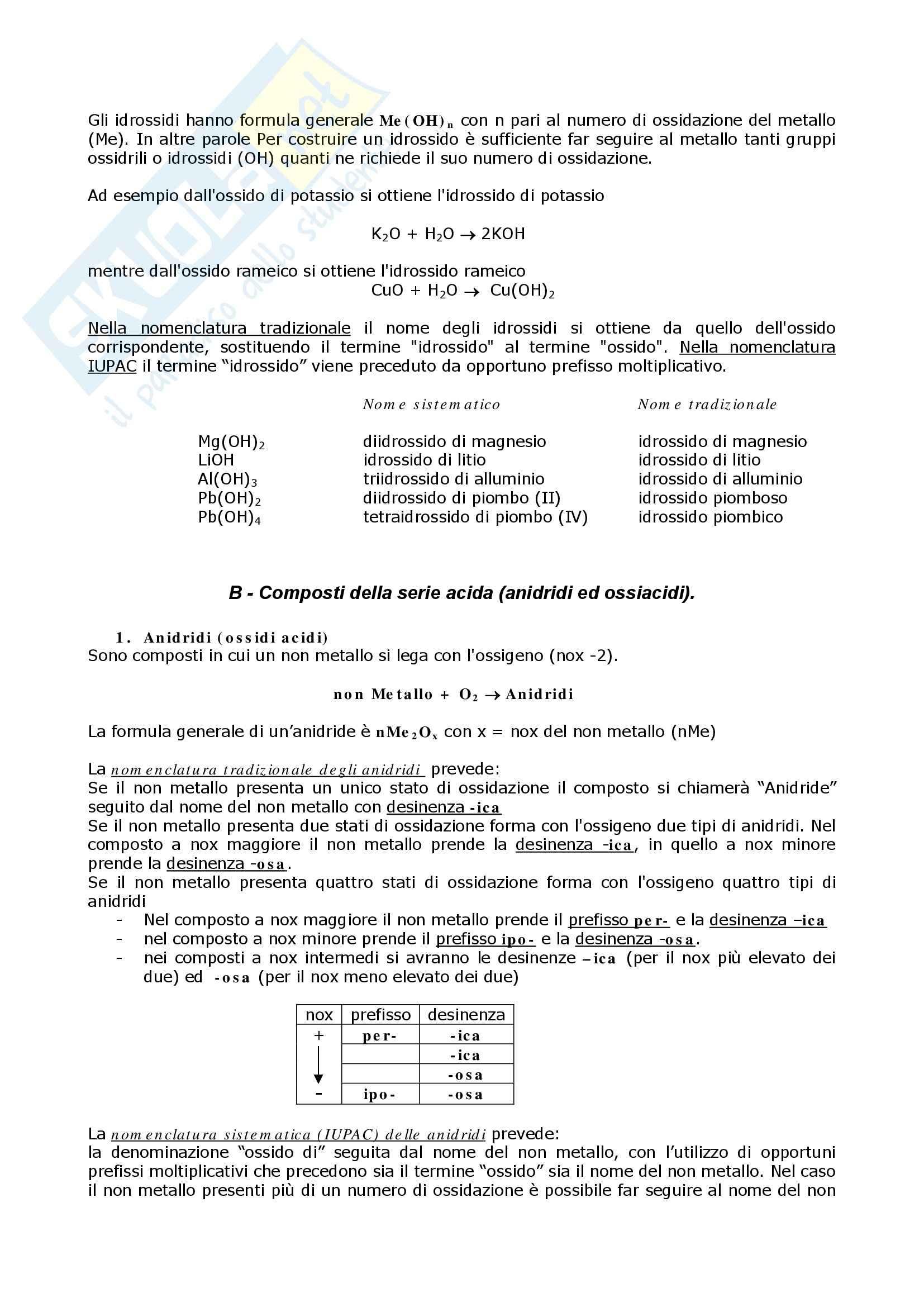 Chimica organica - composti organici: nomenclatura Pag. 6