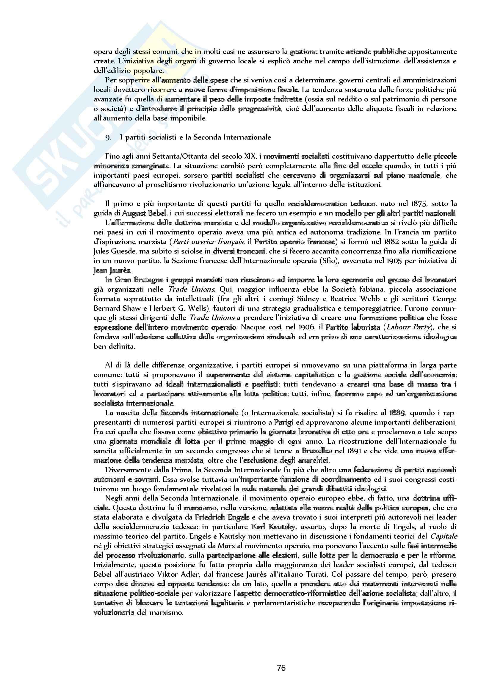 Riassunto esame Storia, prof. Bongiovanni, libro consigliato: Storia contemporanea. L'Ottocento, Sabbatucci, Vidotto Pag. 76