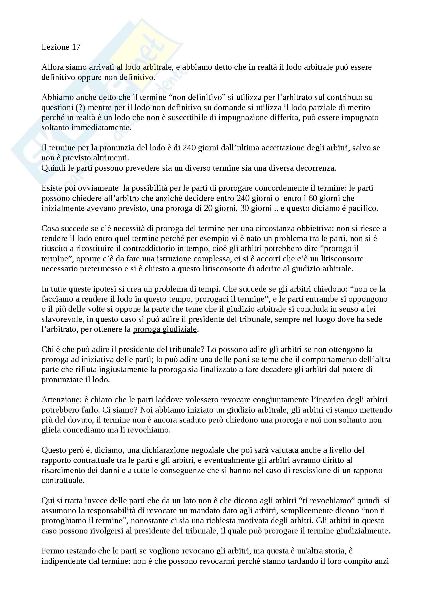Lezione 17, Procedura civile