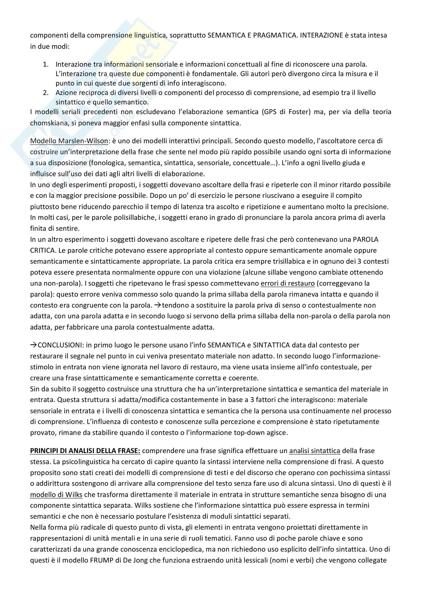 Riassunto esame Psicologia Generale 2, prof. Macchi, libri consigliati Psicologia del pensiero, Girotto e Legrenzi, Discorso e pensiero, Mosconi e Il linguaggio, Legreni Pag. 106