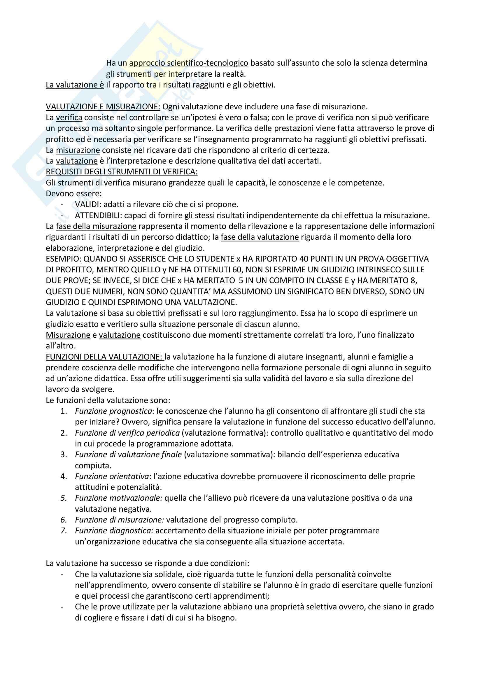 Docimologia - valutazione e contesto educativo Pag. 6