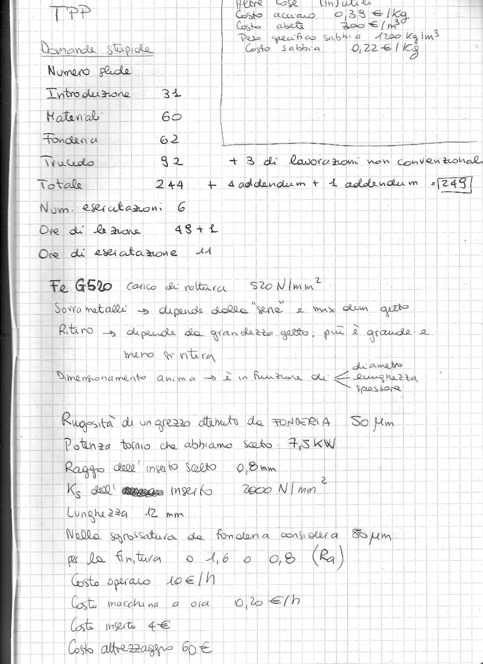 Tecnologia dei processi produttivi - Appunti