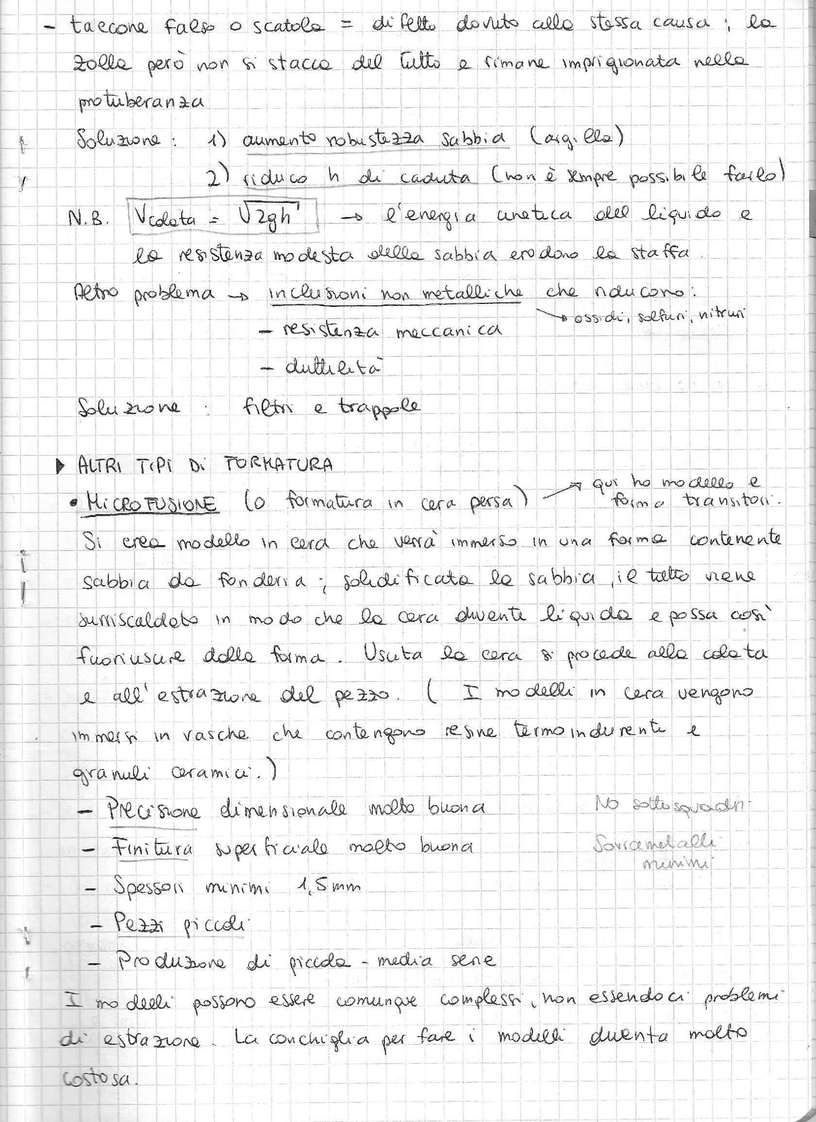 Tecnologia dei processi produttivi - Appunti Pag. 41