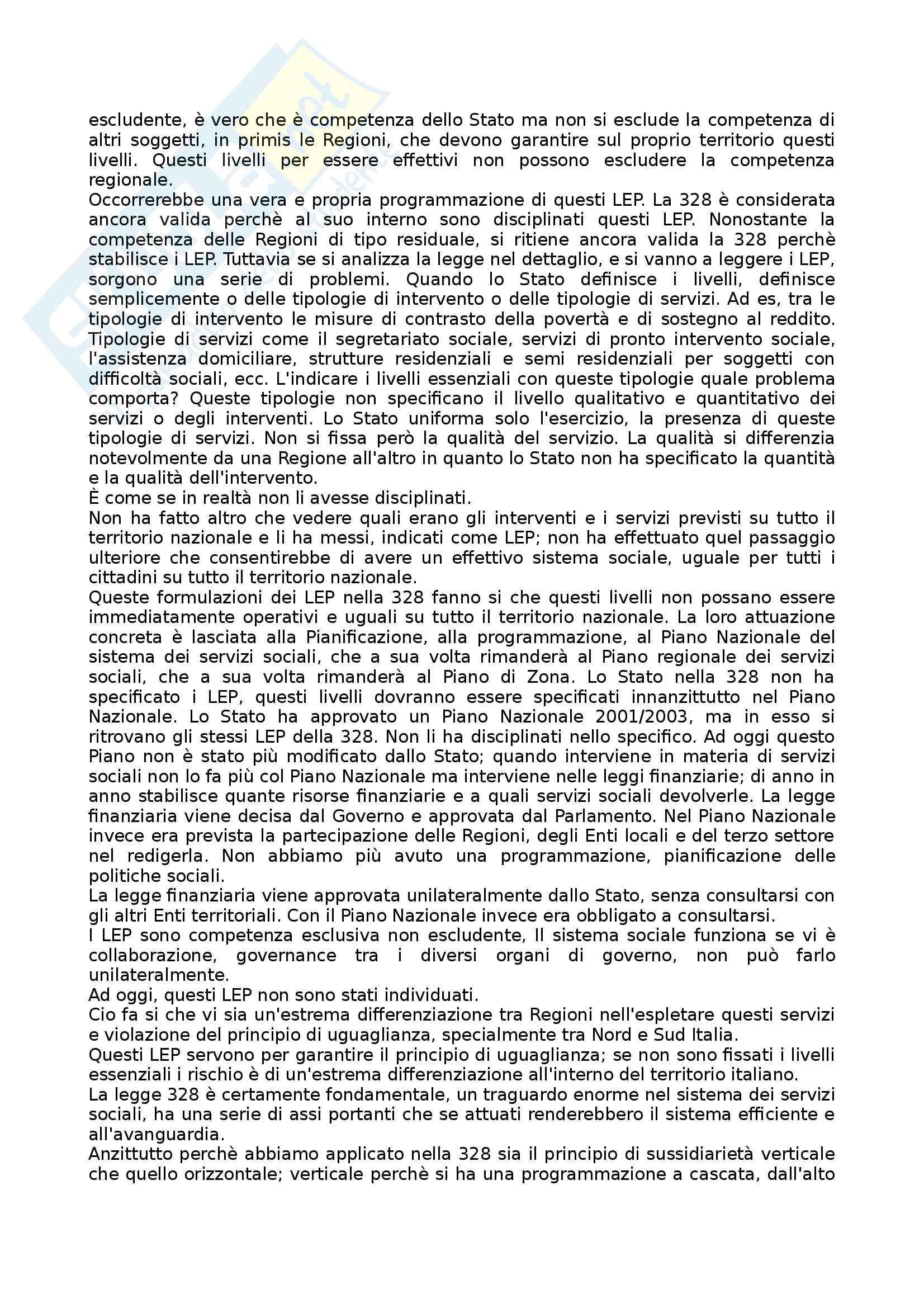 Riassunto Legge 328 Pag. 6