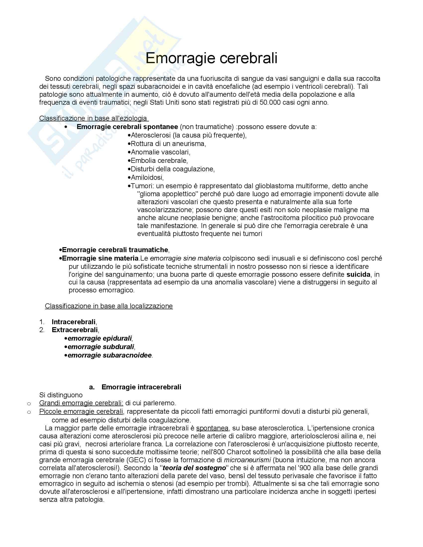 Anatomia Patologica - Patologia endocranica