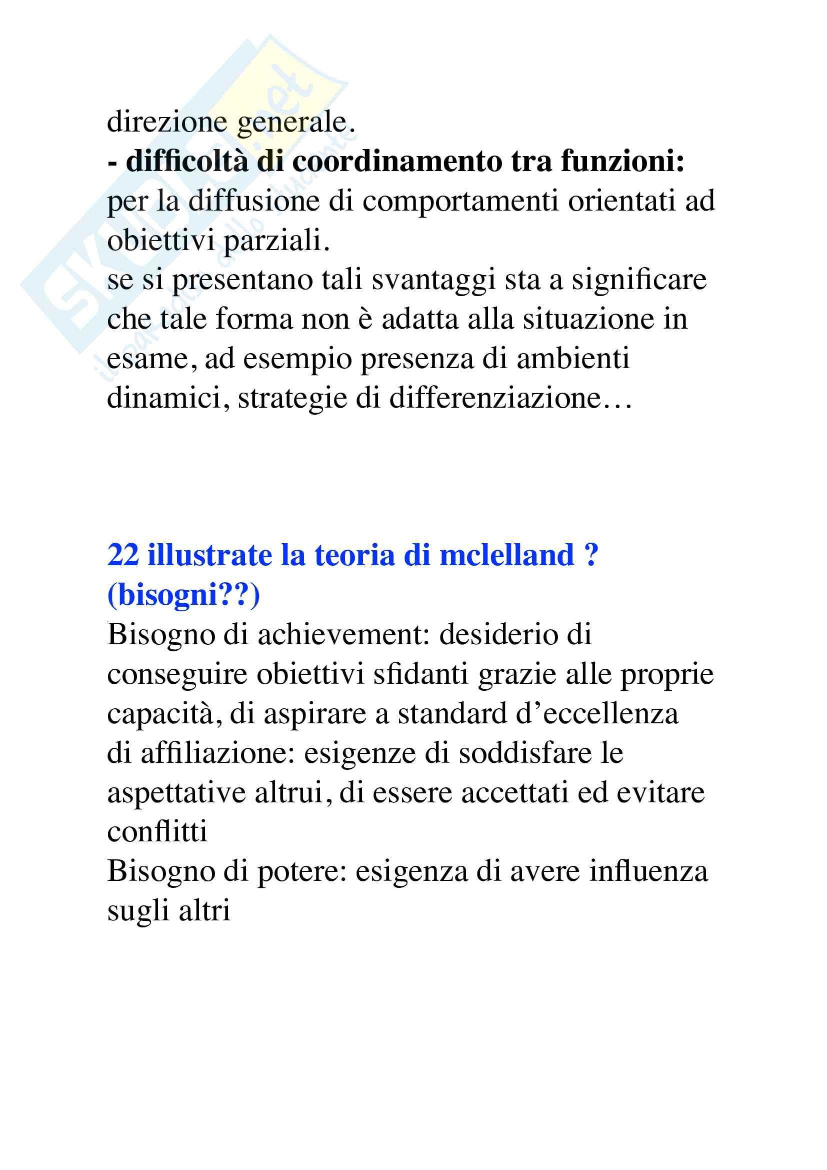 Domande organizzazione aziendale, Mauro Gatti Pag. 41