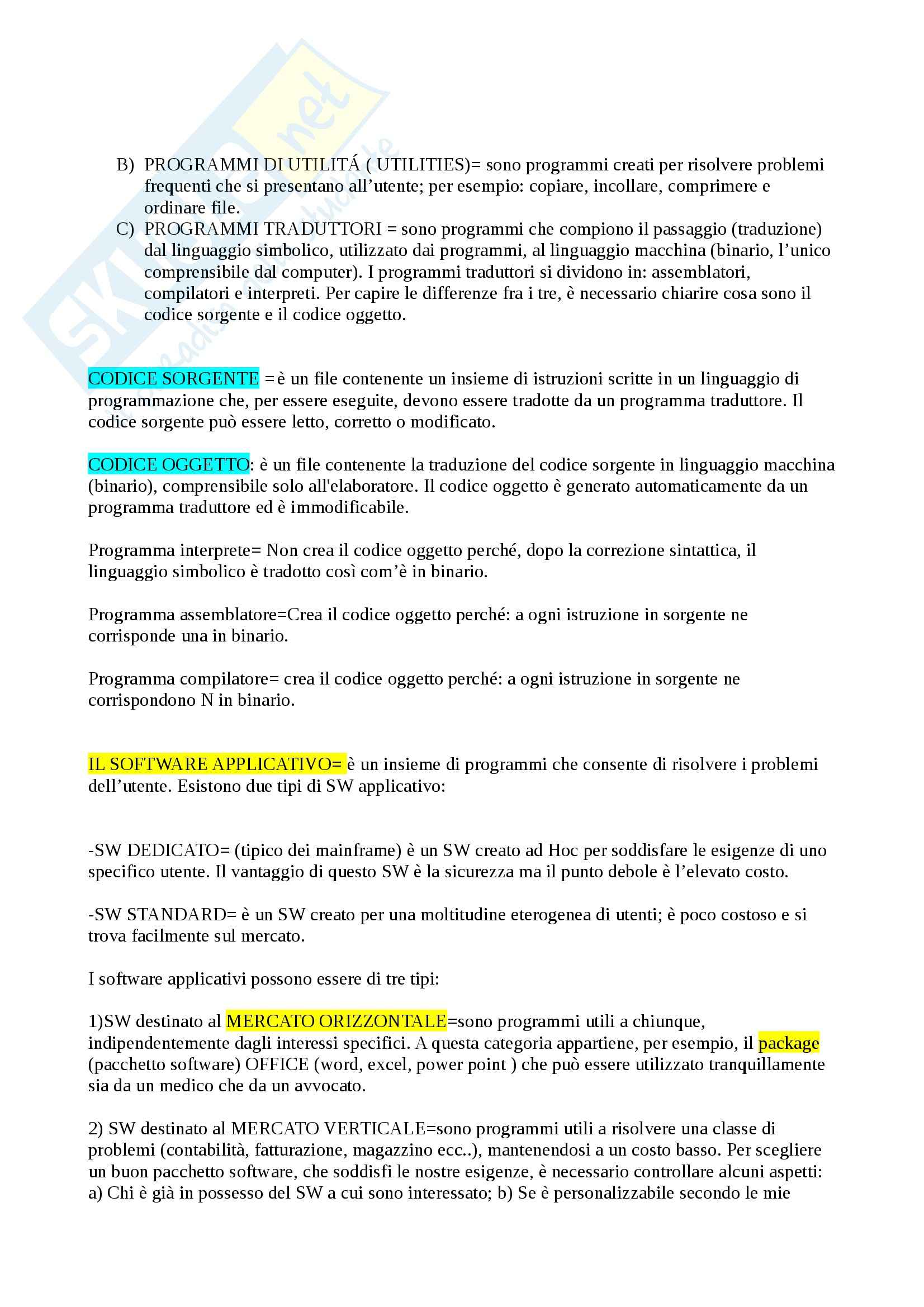 Riassunto esame Informatica Generale, prof. Megale, libro consigliato ICT- sistemi informativi e servizi informatici, Valacich Pag. 11