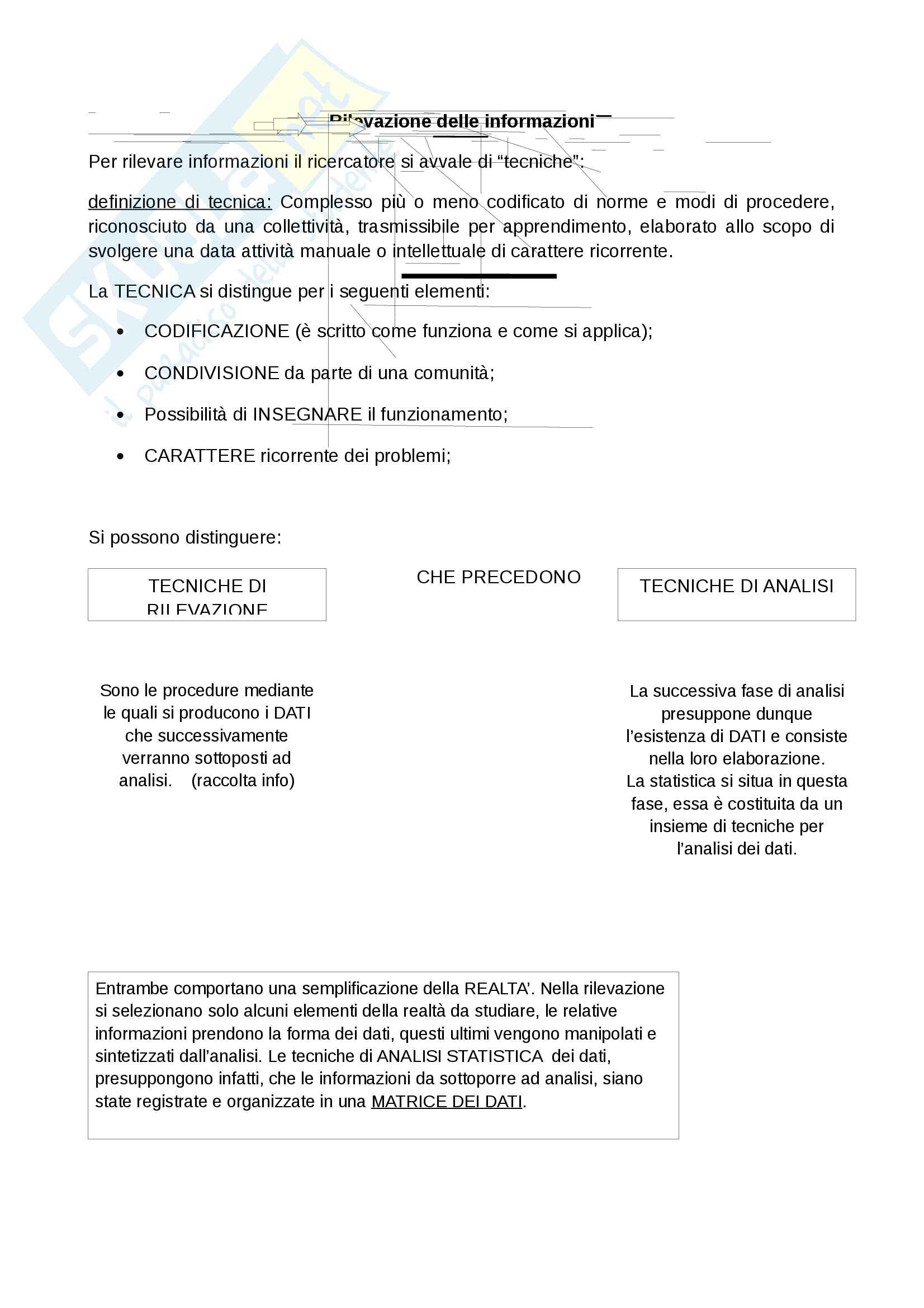 """Riassunto esame statistica, docente Bove, libro consigliato """"Statistica per la ricerca sociale"""", autori: Corbetta, Gasperoni, Pisati"""