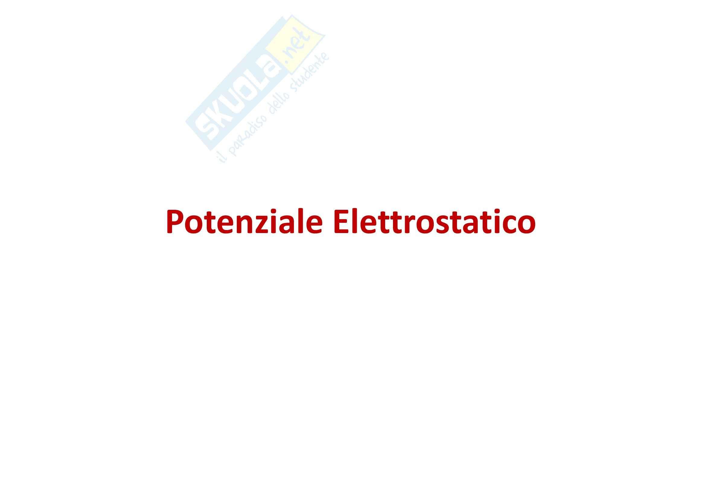 Fisica generale - l'elettromagnetismo potenziale elettrostatico