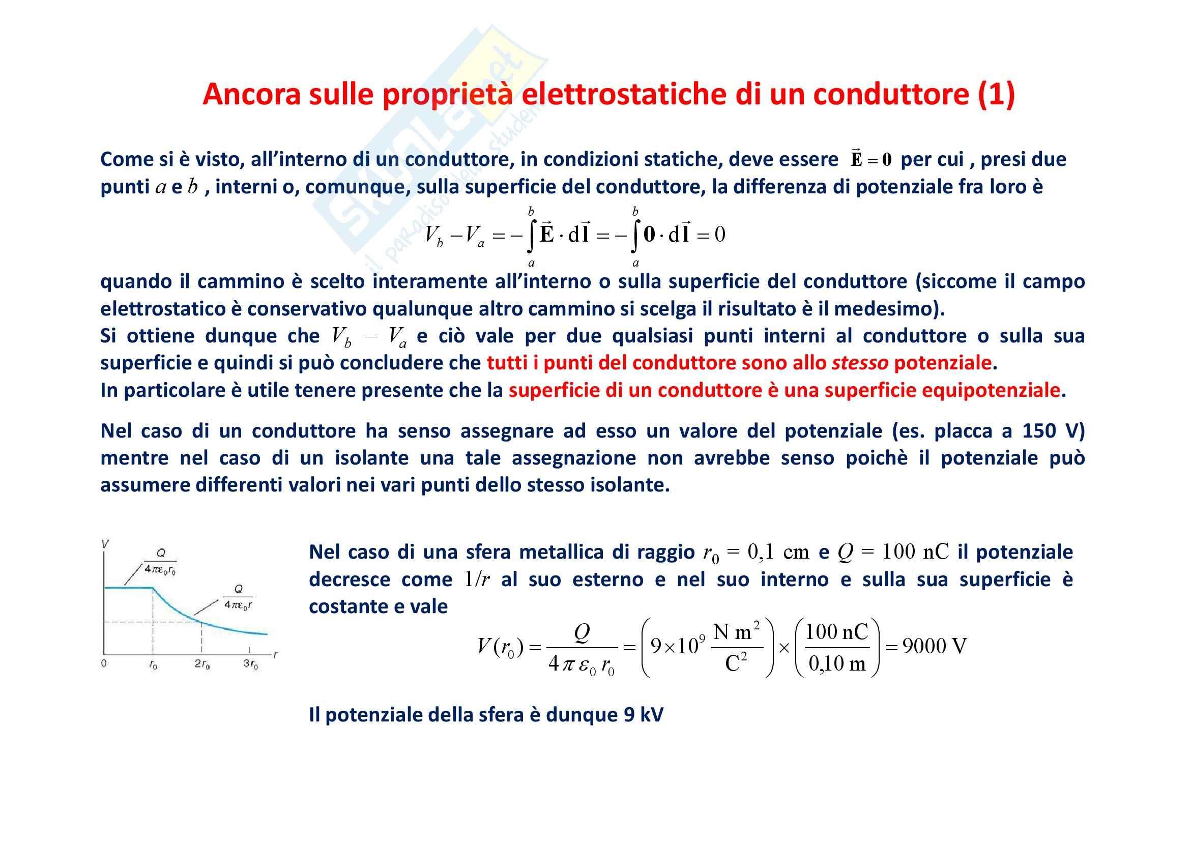 Fisica generale - l'elettromagnetismo potenziale elettrostatico Pag. 16