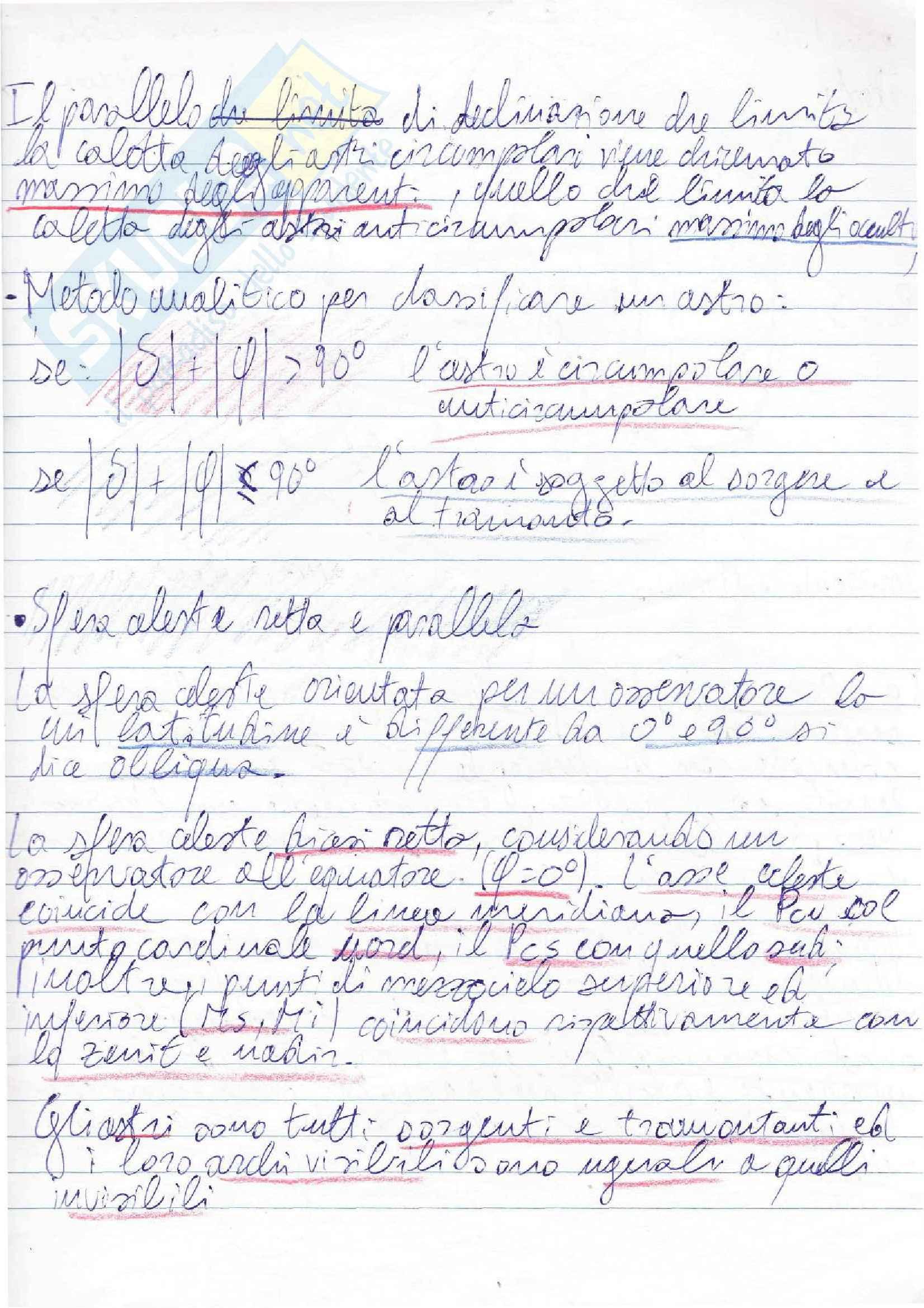 Lezioni, Navigazione Astronomica Pag. 11