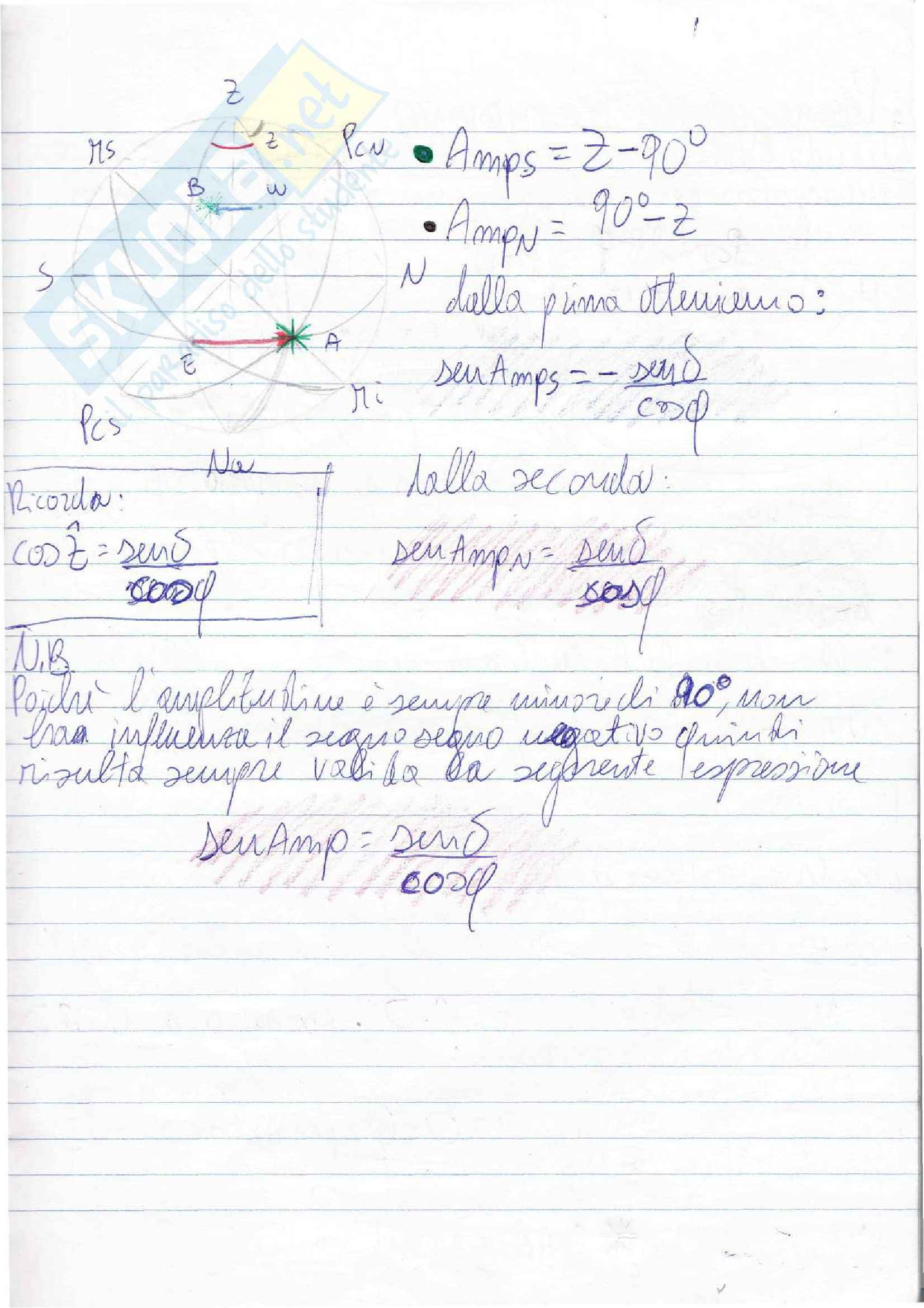Lezioni, Navigazione Astronomica Pag. 21