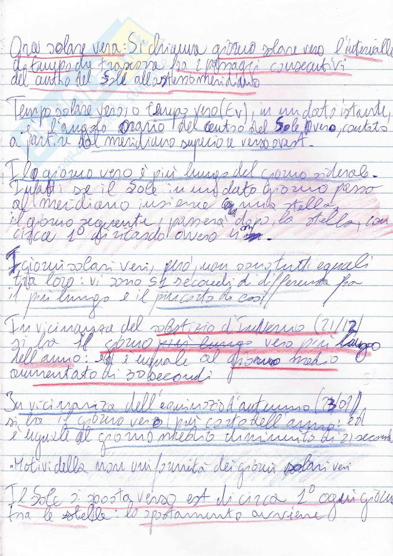 Lezioni, Navigazione Astronomica Pag. 26