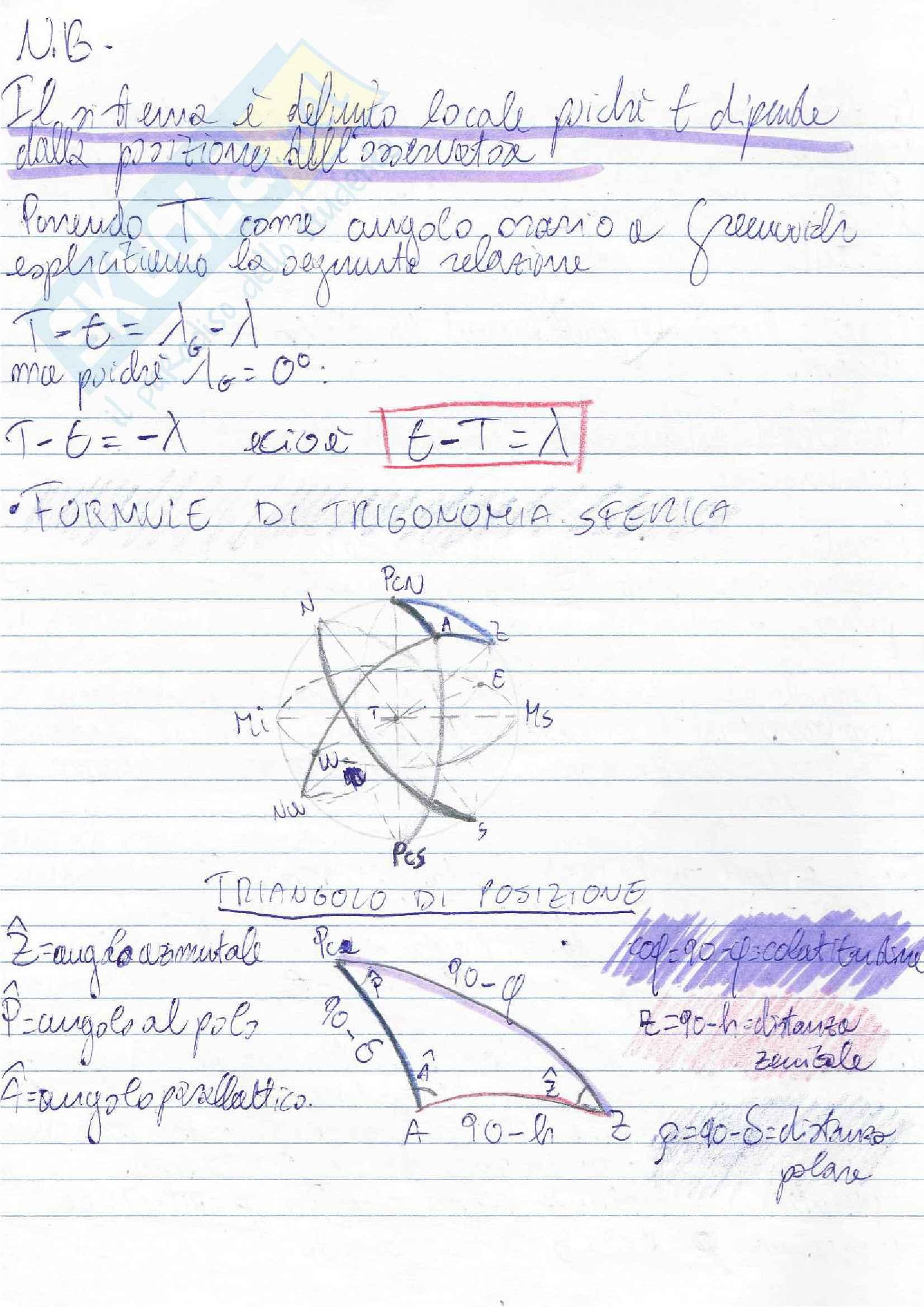 Lezioni, Navigazione Astronomica Pag. 6