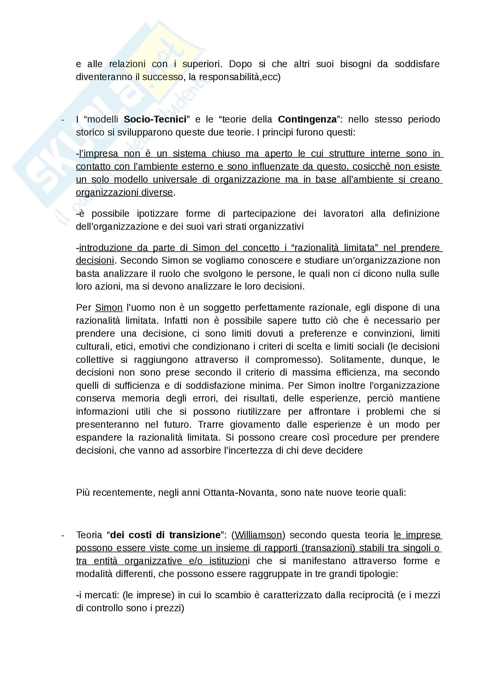 Riassunto esame Sociologia, prof. Cocozza, libro consigliato Direzione risorse umane, Cocozza Pag. 6
