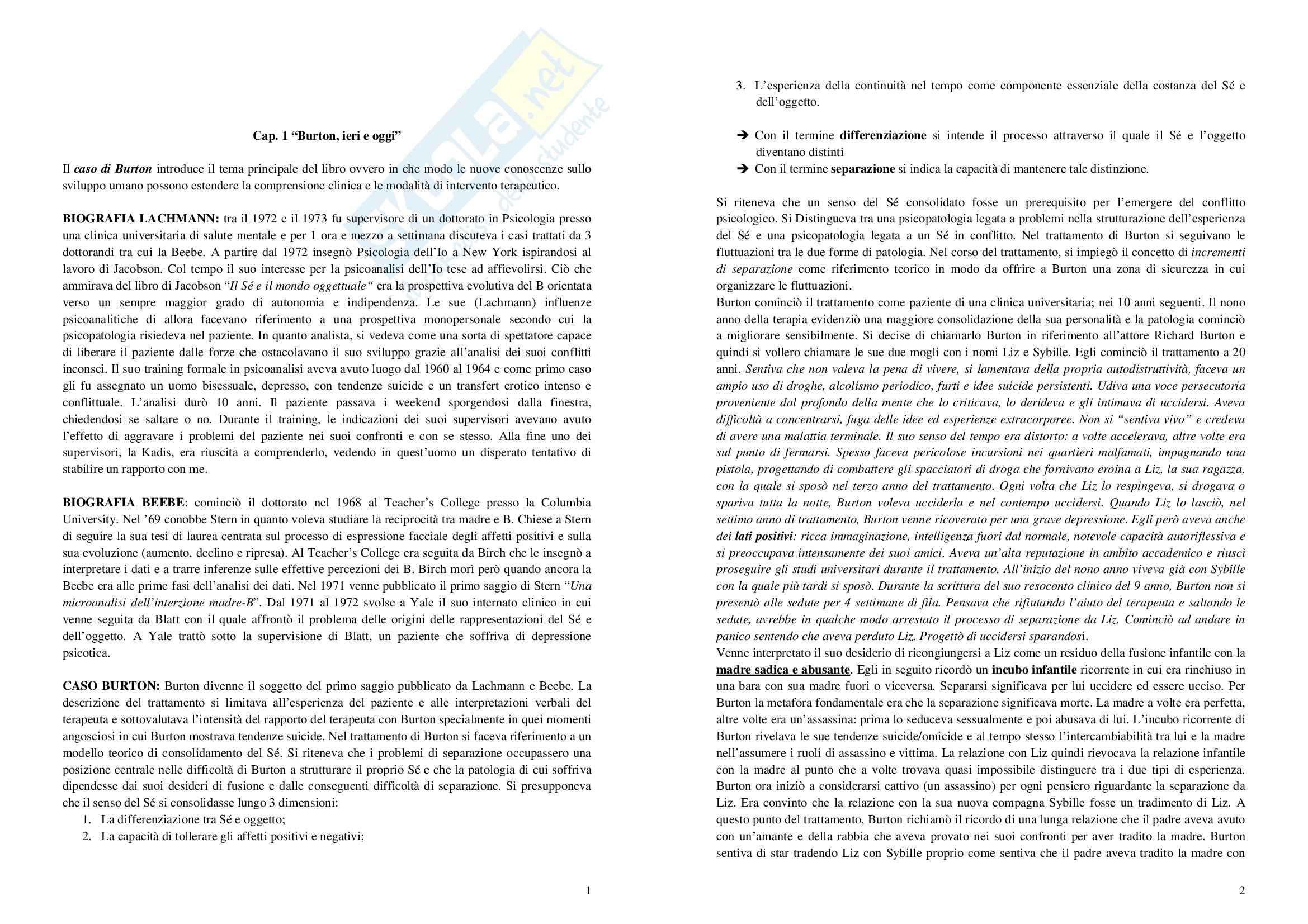 Riassunto esame Tecniche di Intervento, prof. Taurino, libro consigliato Infant Research e Trattamento degli Adulti, Beebe, Lachmann