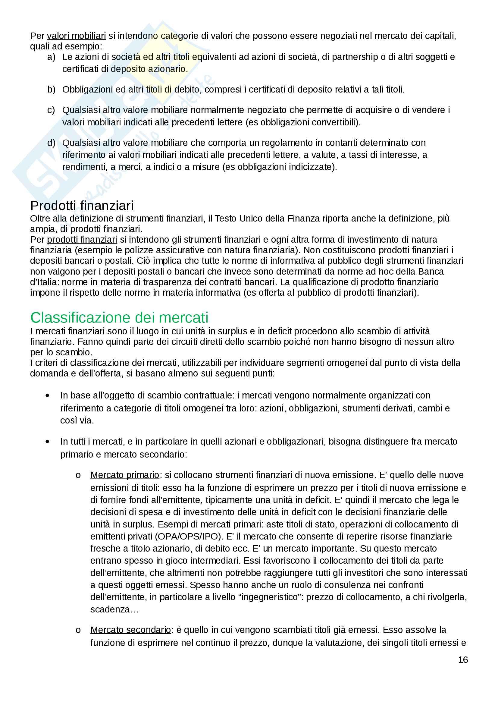 Economia delle Aziende di Credito Pag. 16