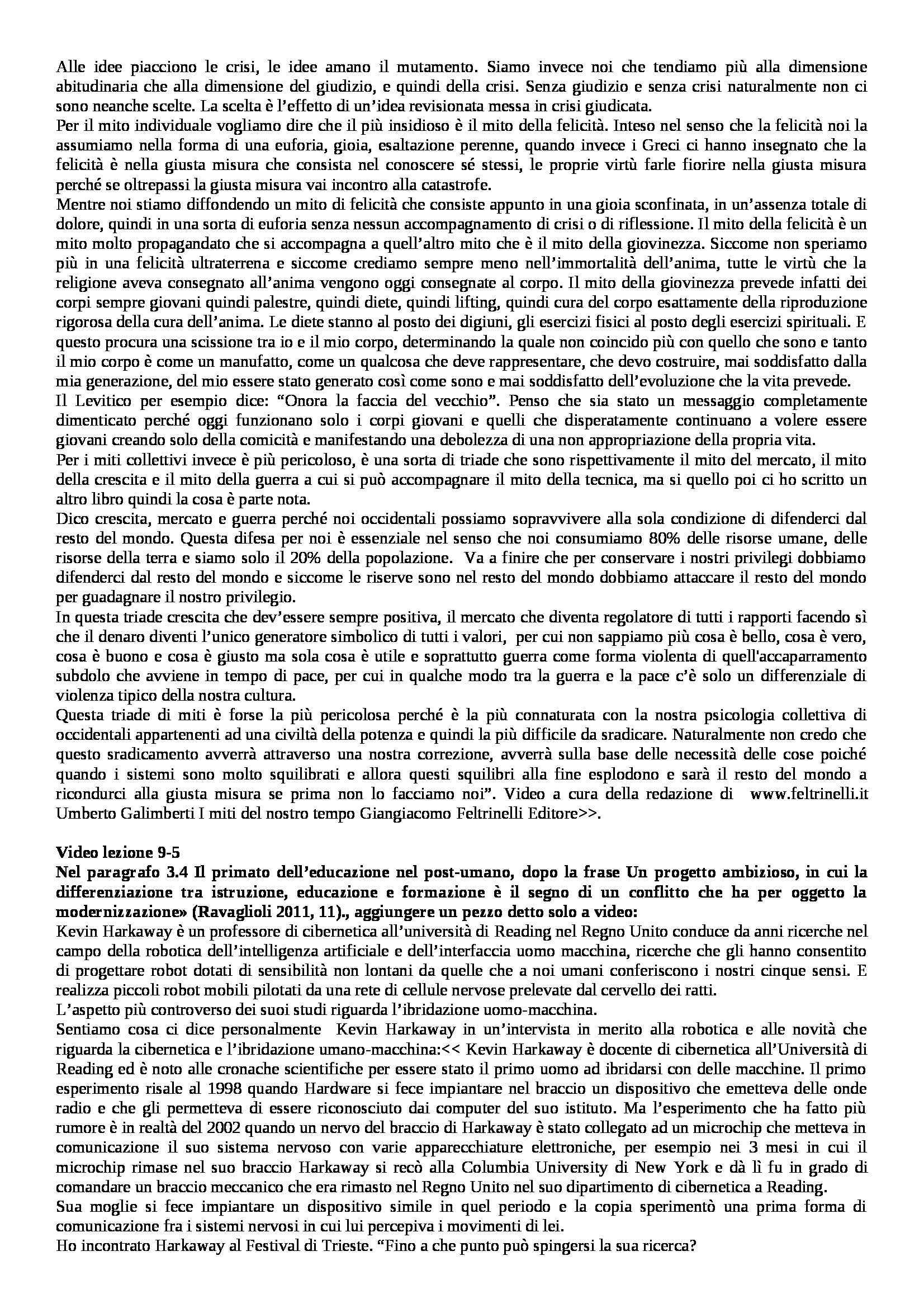 Storia sociale dell'educazione - Appunti Pag. 61