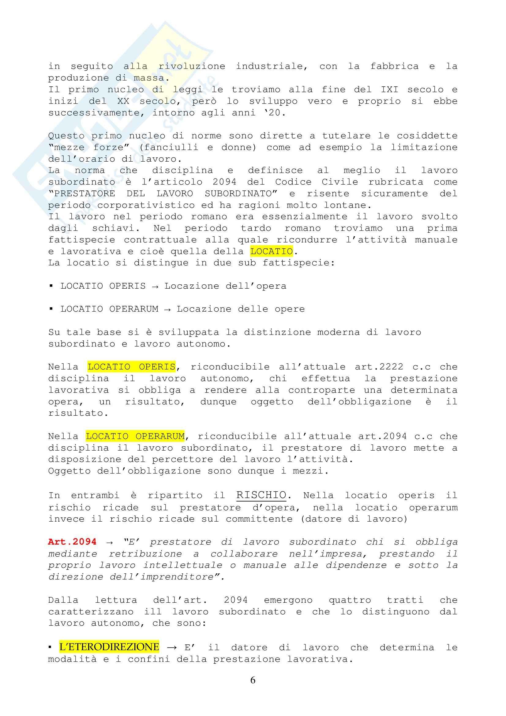 Diritto del lavoro - Appunti Pag. 6