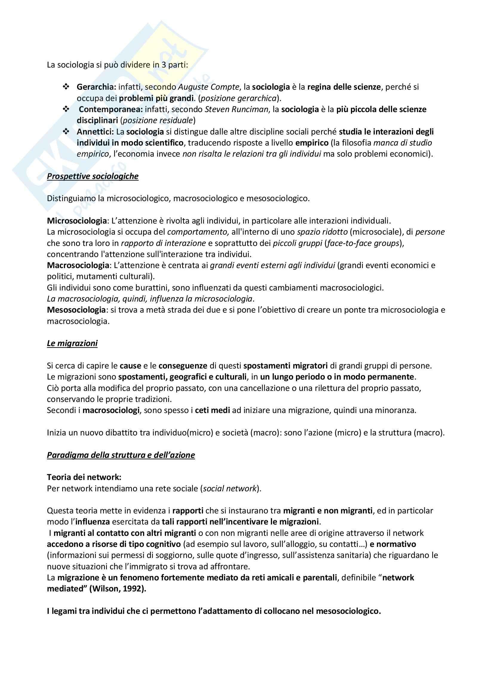 Lezioni complete, Fondamenti di Sociologia Pag. 2