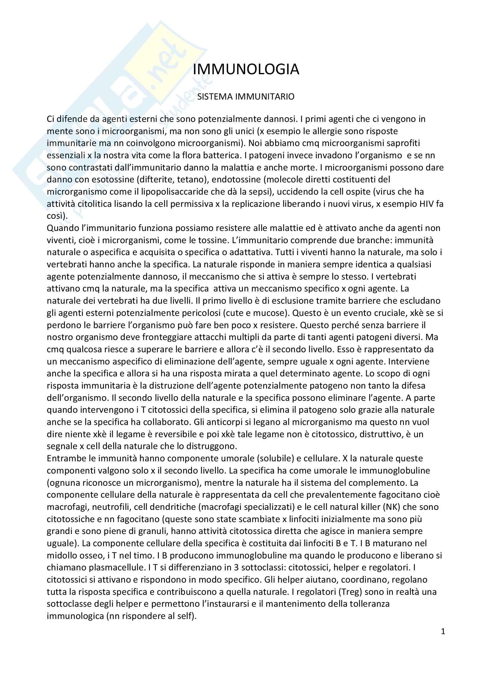 Immunologia - Appunti