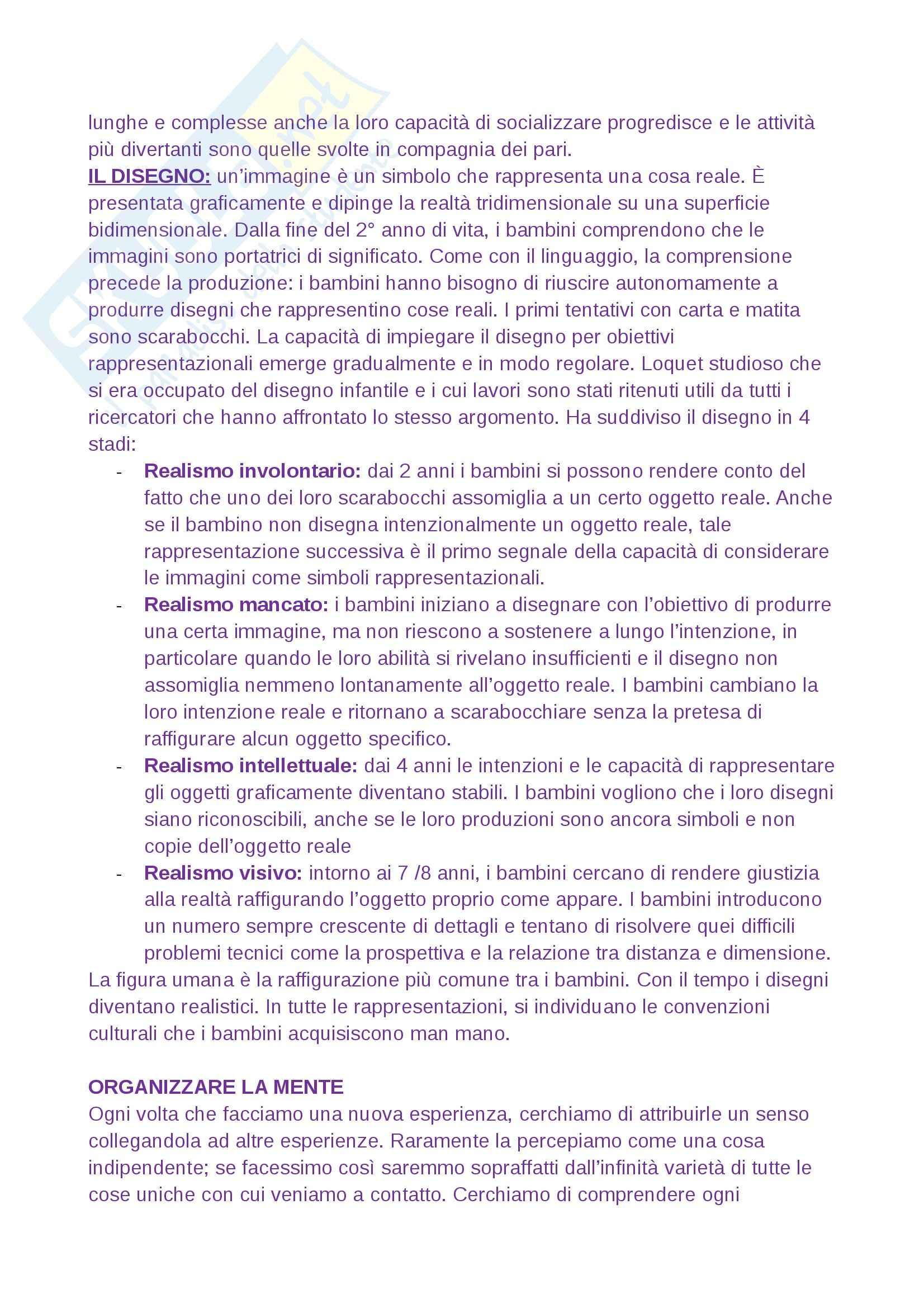 Psicologia dello sviluppo Pag. 21