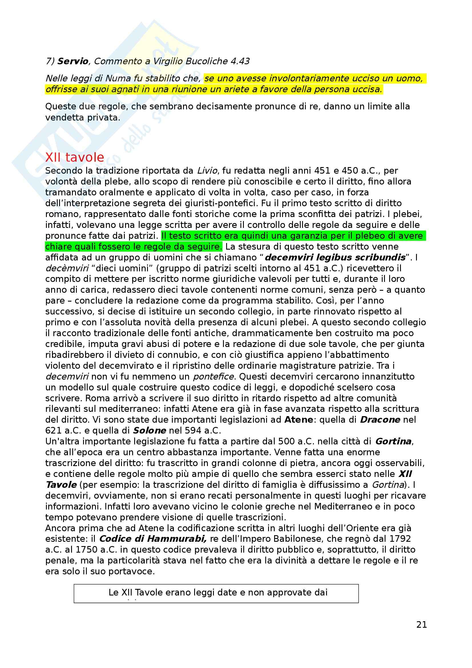 Appunti di istituzioni di diritto romano Pag. 21