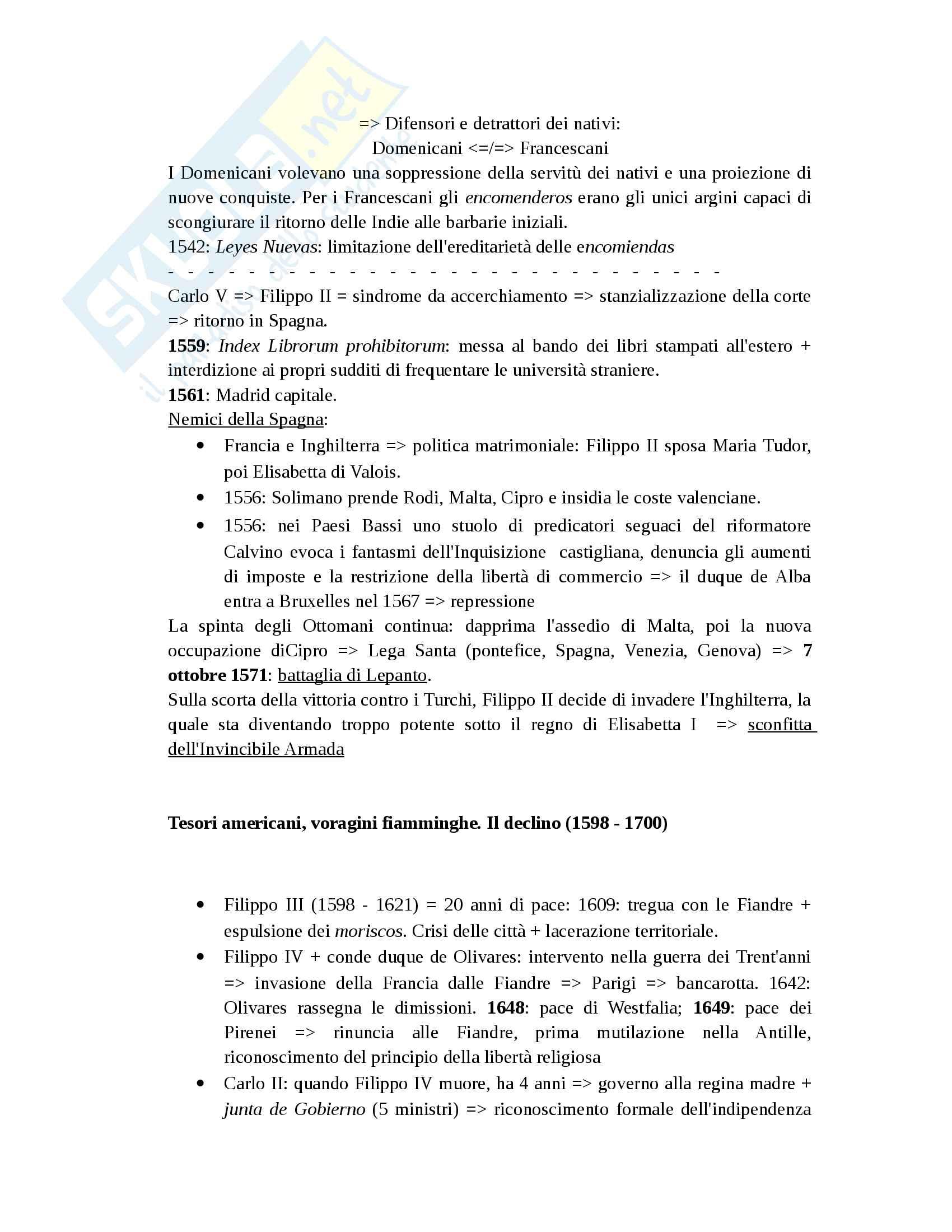 Storia di Spagna (riassunto schematico) Pag. 6