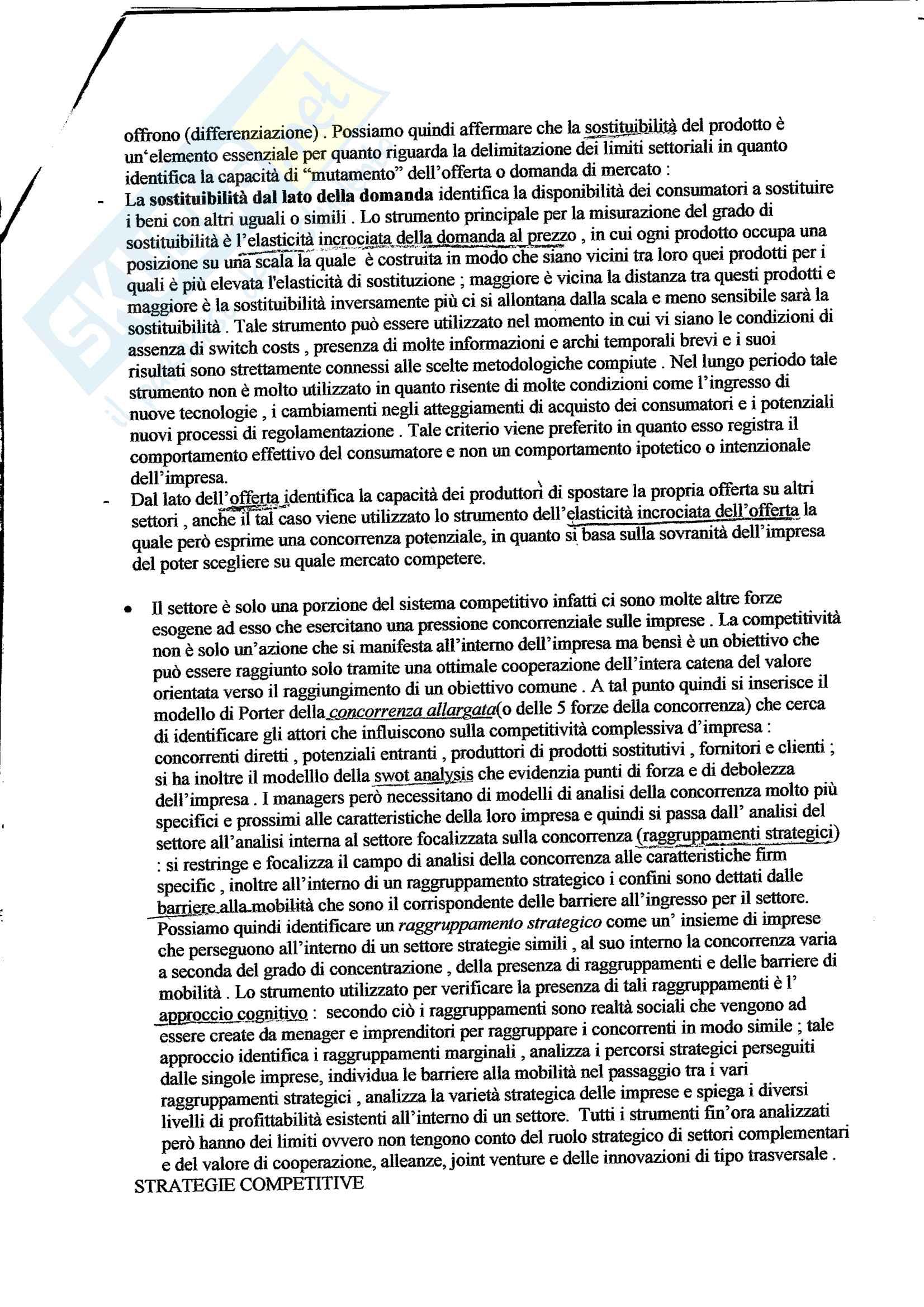 Riassunto completo Economia e management delle imprese, Prof. Francesco Rizzi Pag. 2