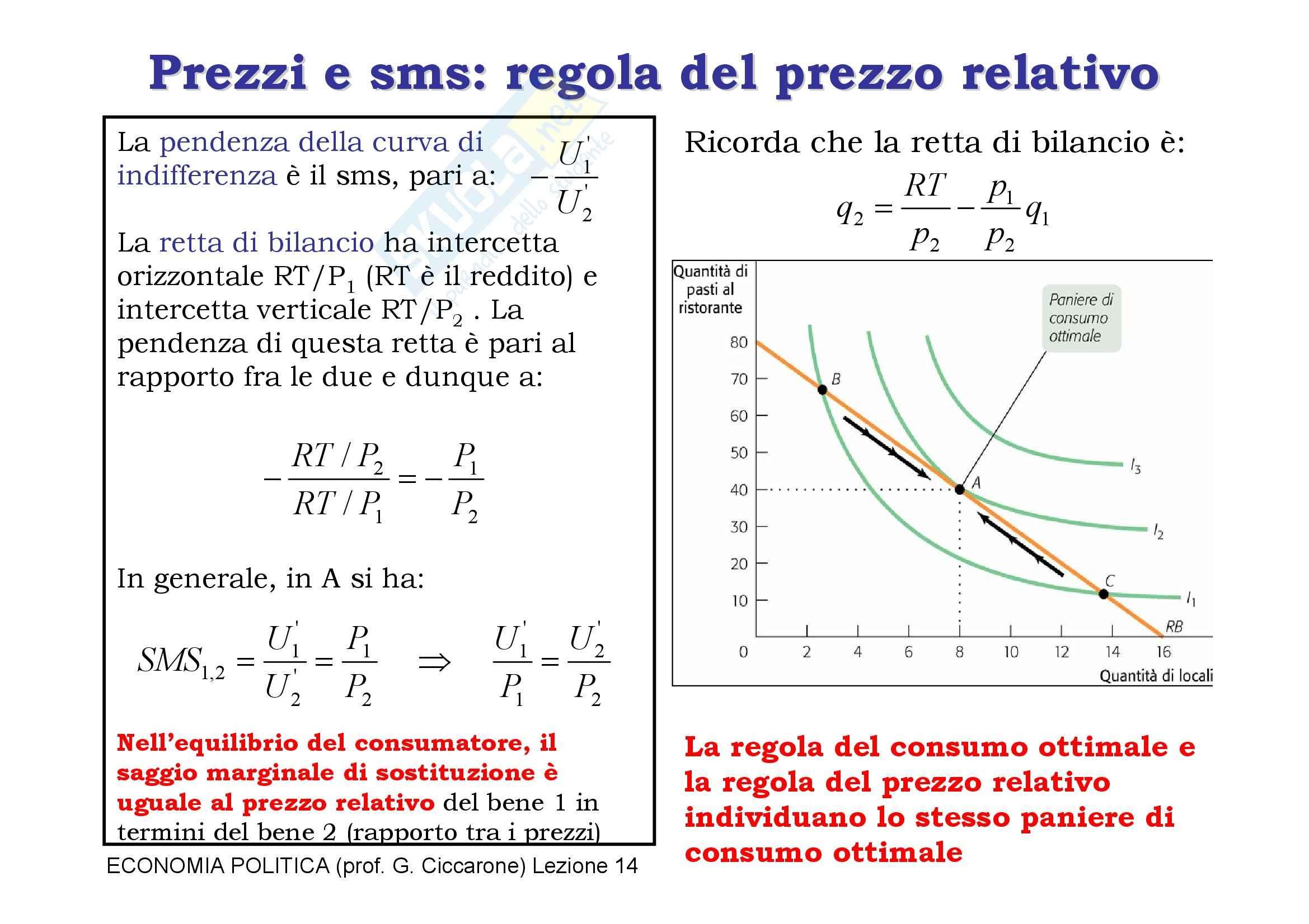 Economia monetaria - la curva di indifferenza Pag. 11