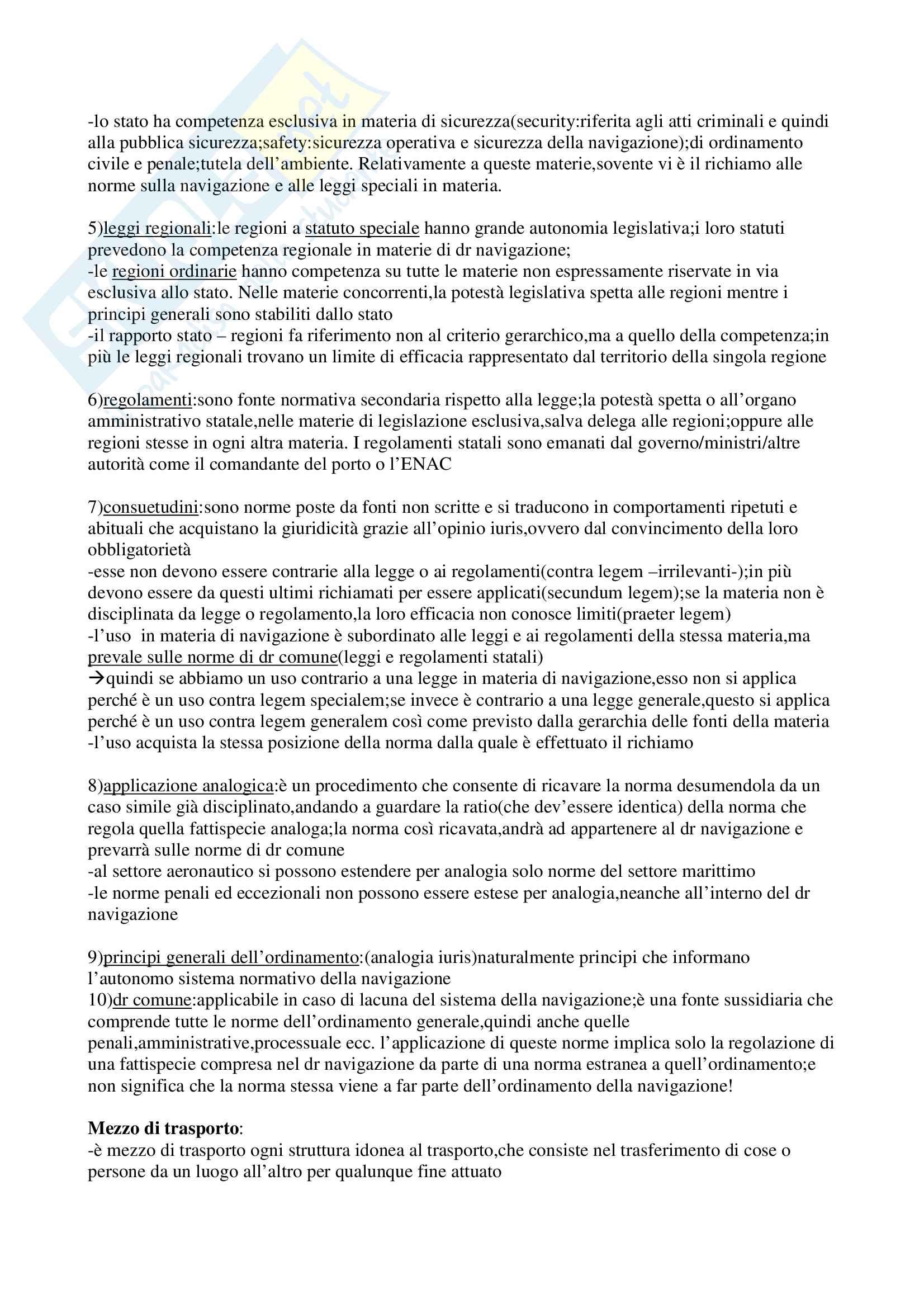 Riassunto esame Diritto dei Trasporti, prof. Antonini, libro consigliato Corso di diritto dei trasporti Pag. 2